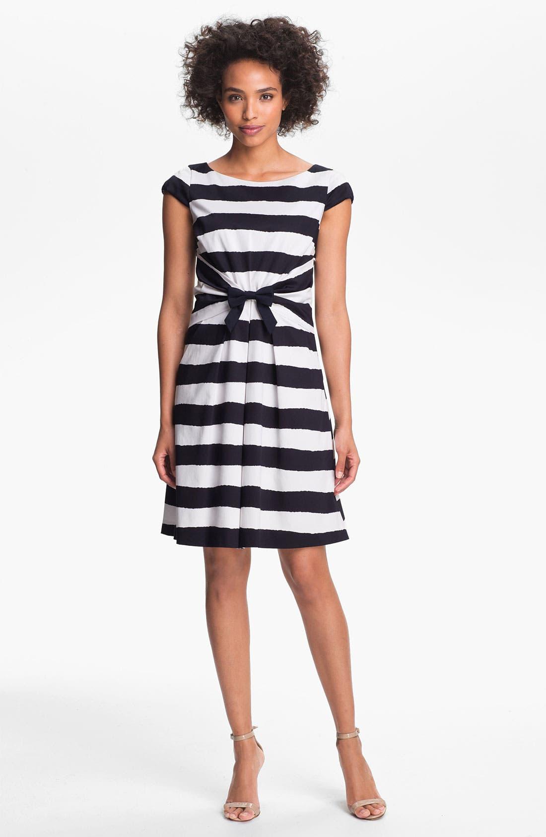 Alternate Image 1 Selected - Tahari Bow Detail Stripe Dress