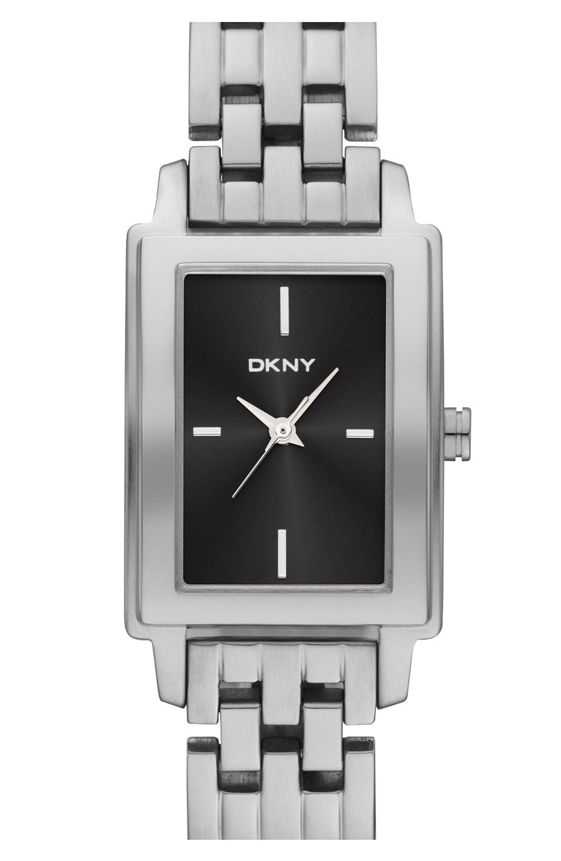 Main Image - DKNY Rectangular Bracelet Watch, 23mm x 28mm