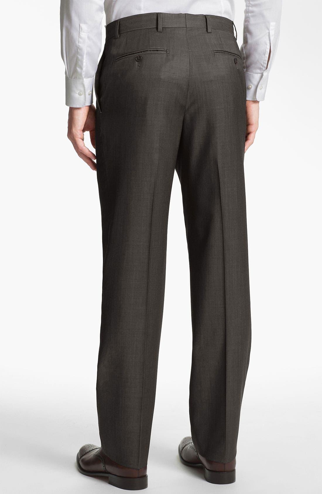 Alternate Image 2  - Joseph Abboud Flat Front Trousers