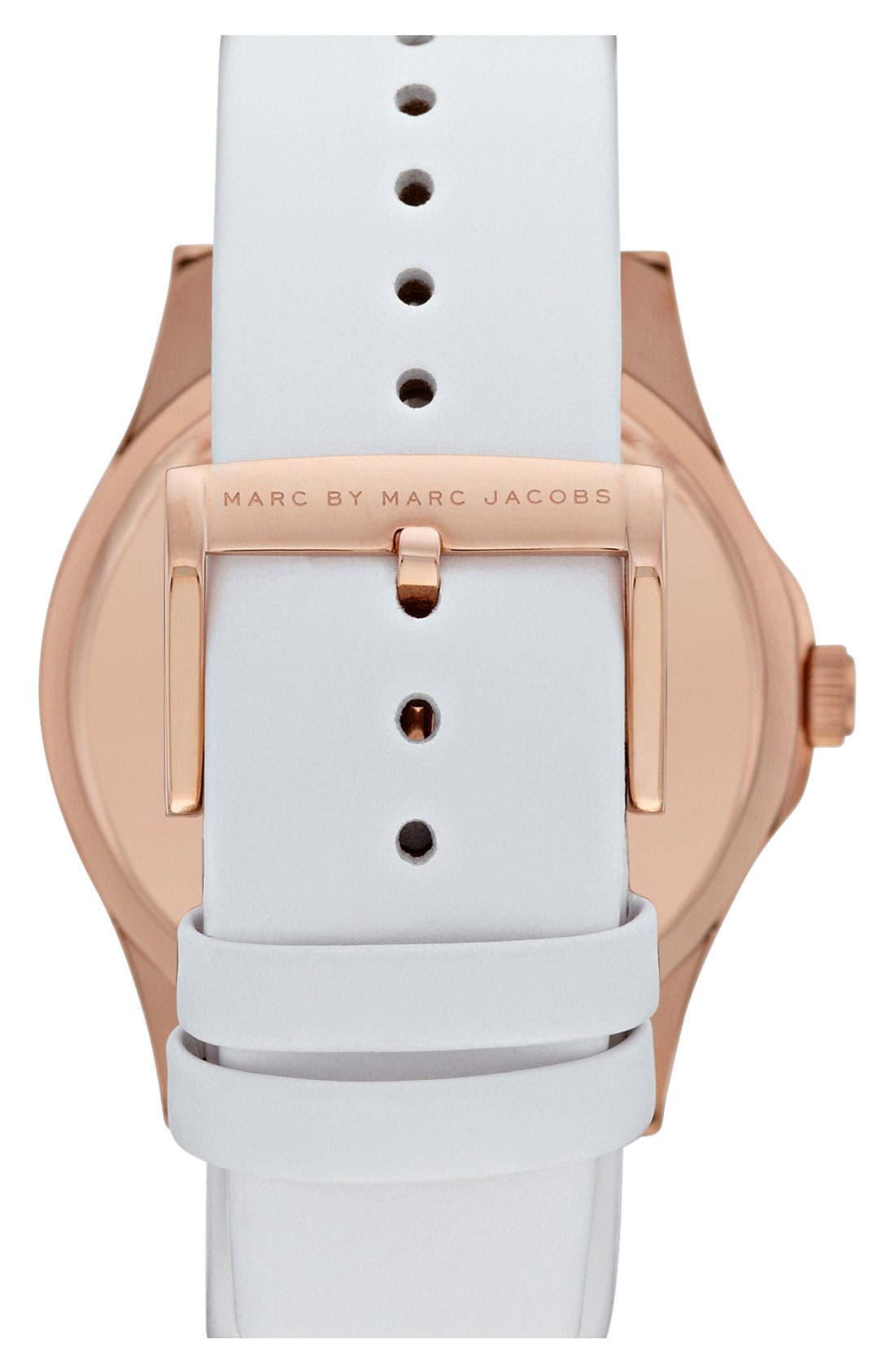 Alternate Image 3  - MARC JACOBS 'Henry' Leather Strap Watch