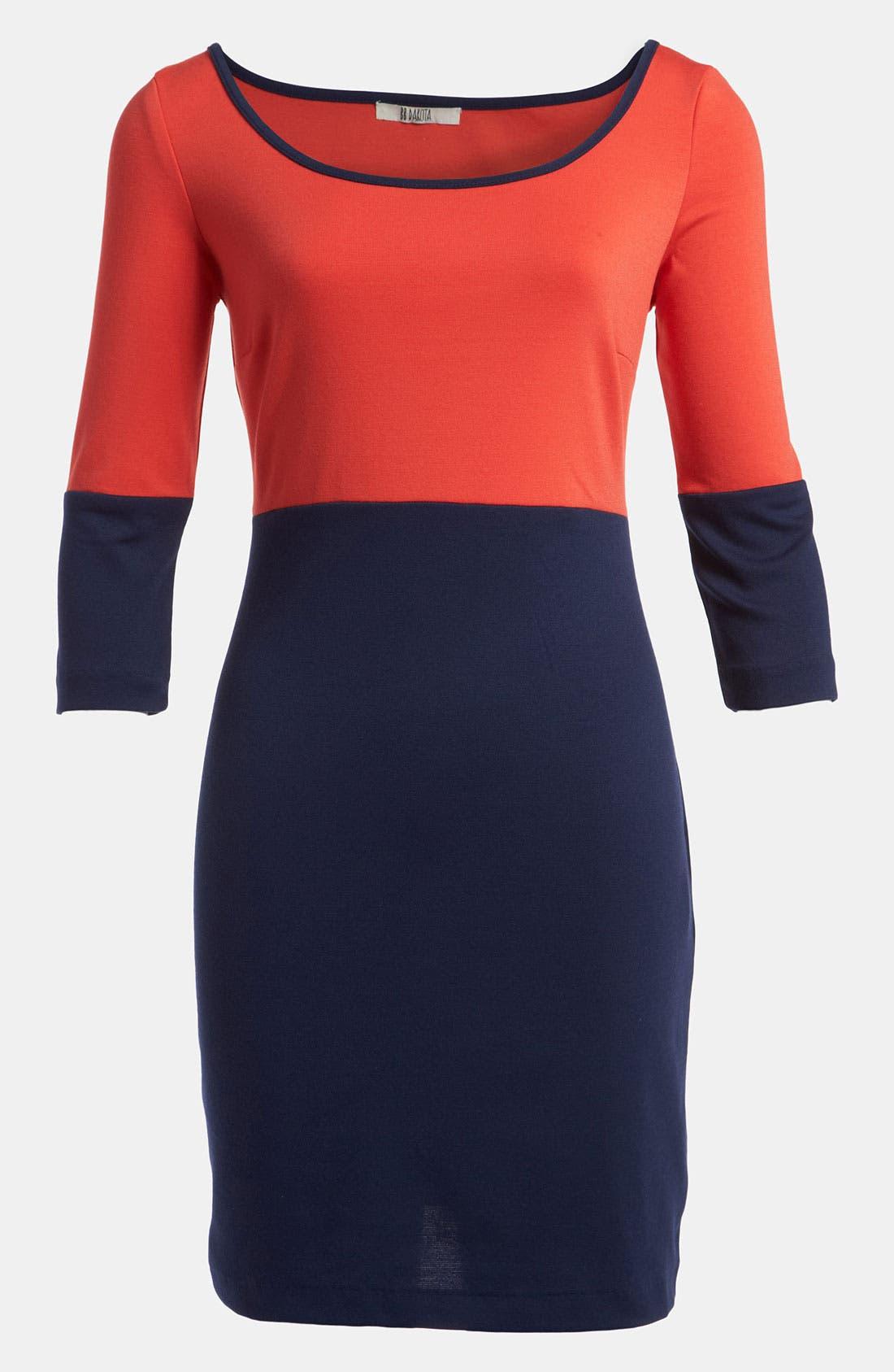 Alternate Image 1 Selected - BB Dakota Colorblock Knit Dress
