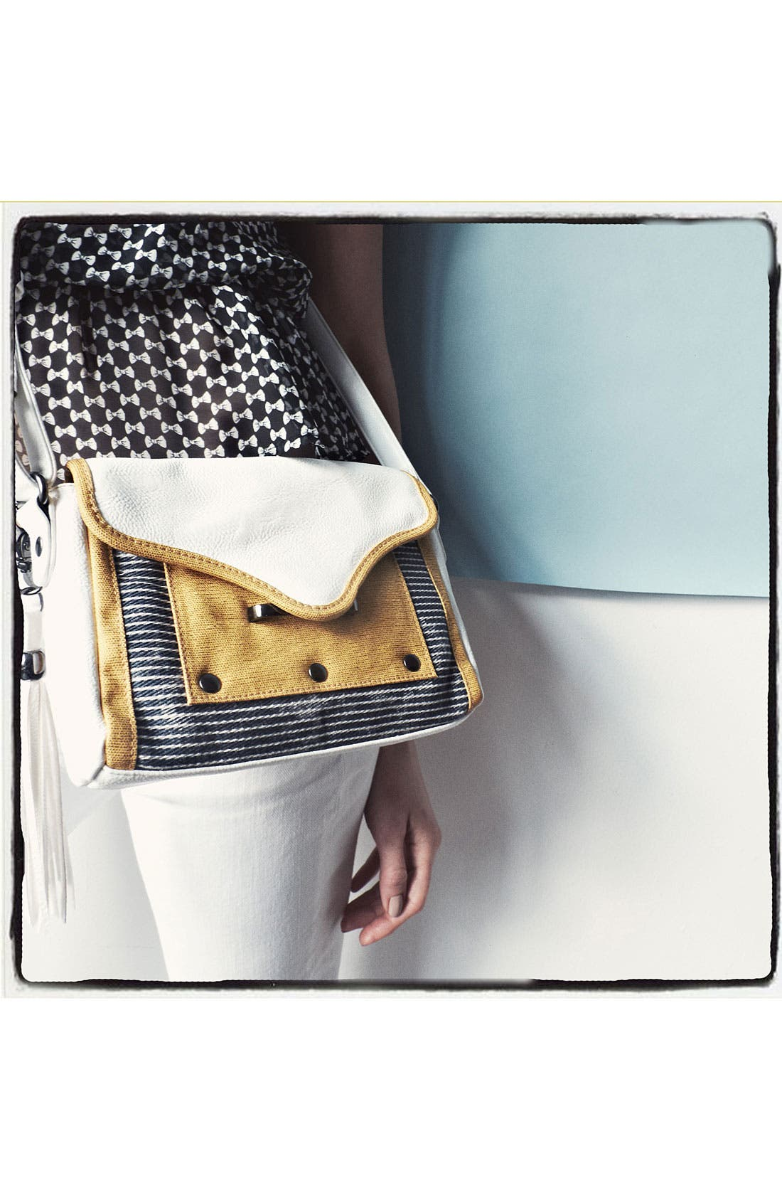Alternate Image 2  - POVERTY FLATS by rian 'Fringe & Flap - Small' Crossbody Bag