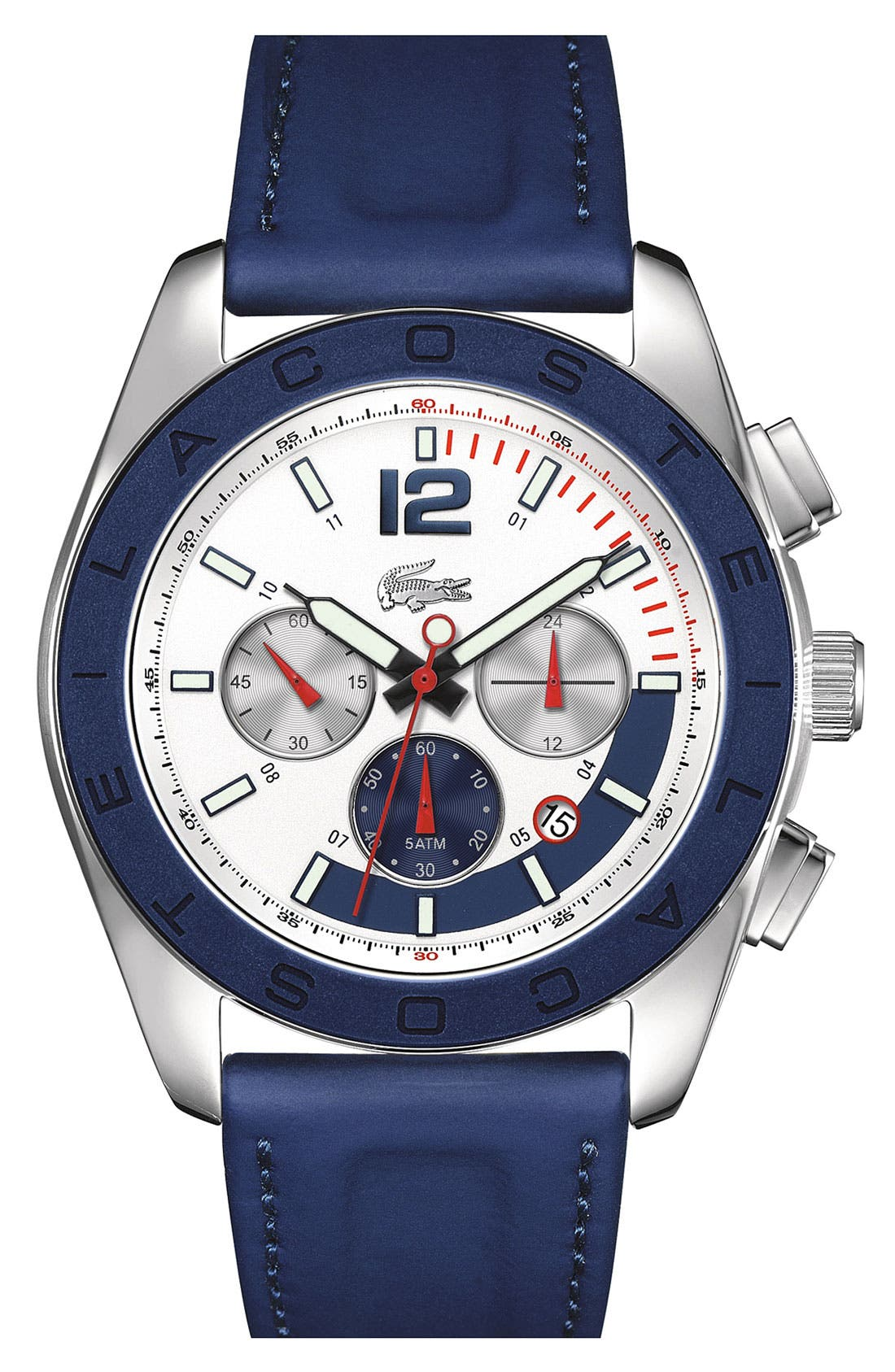 Alternate Image 1 Selected - Lacoste 'Panama' Chronograph Watch, 46mm