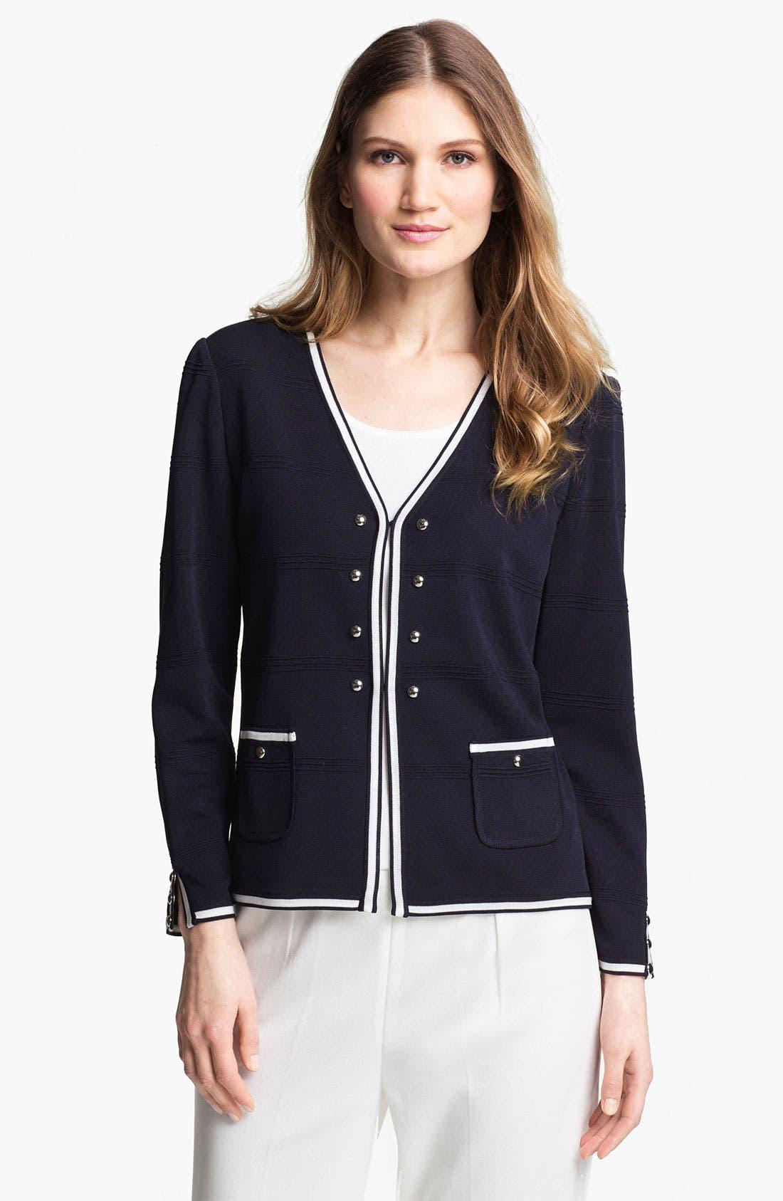 Alternate Image 1 Selected - Ming Wang V-Neck Jacket