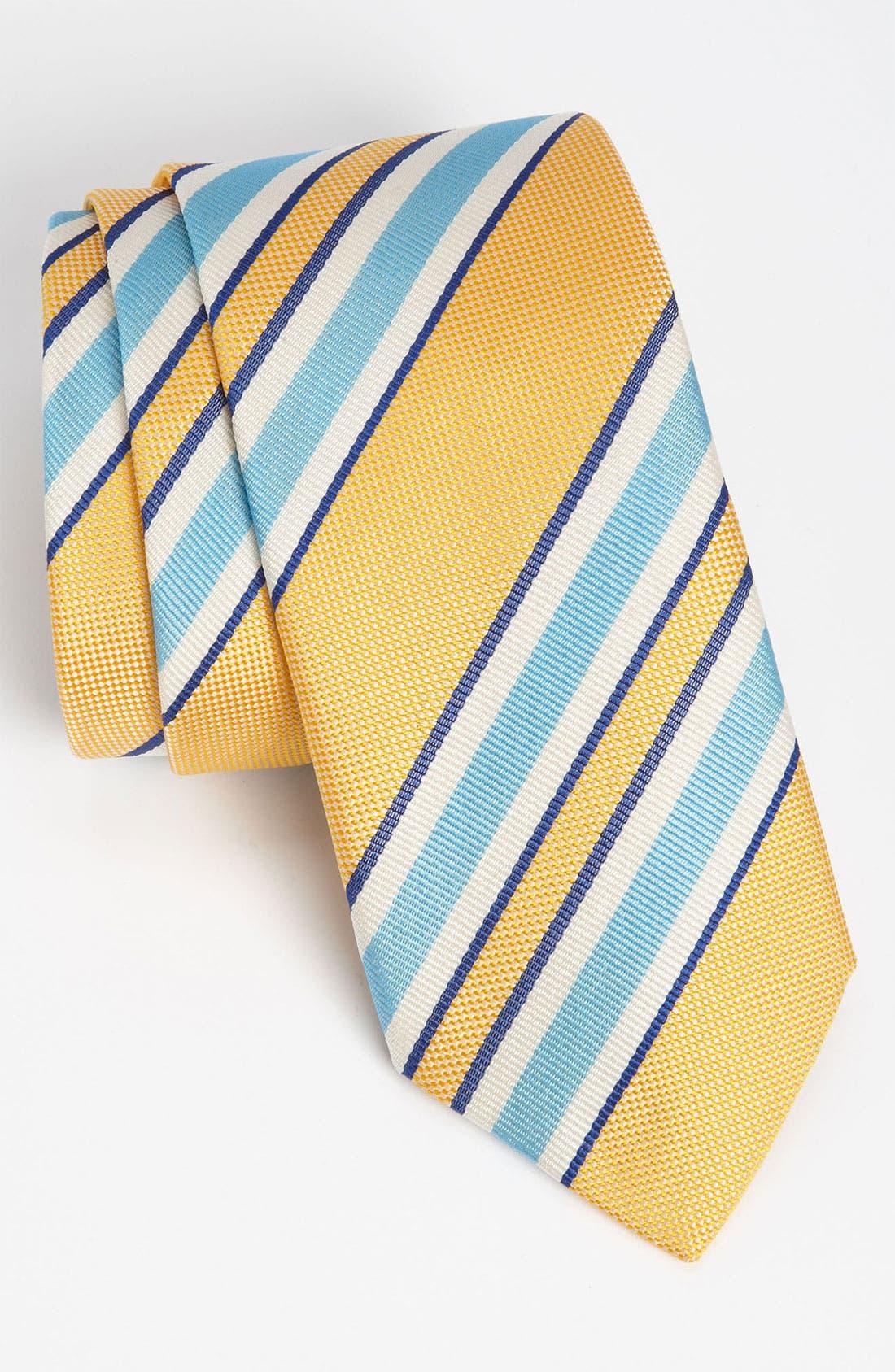 Alternate Image 1 Selected - Thomas Pink 'Ramsay Stripe' Woven Silk Tie