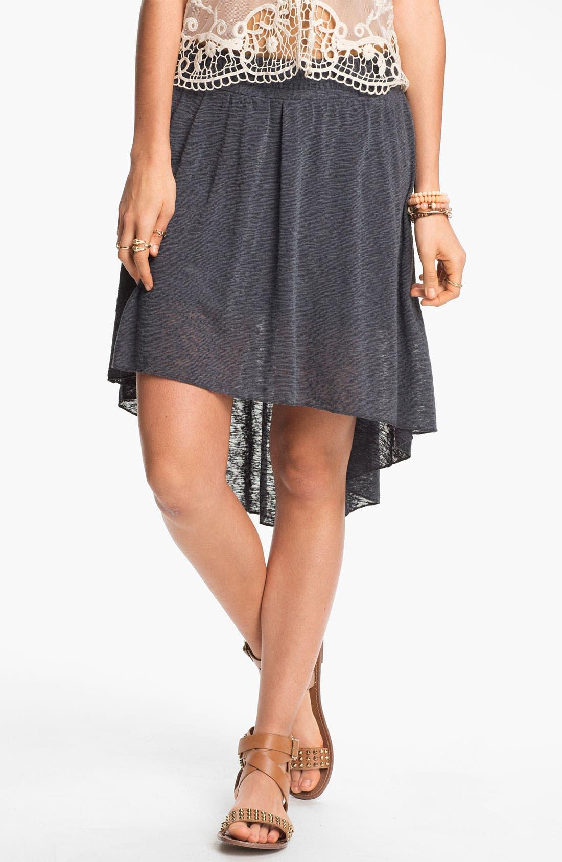 Alternate Image 1 Selected - Rubbish Burnout High/Low Skirt (Juniors)