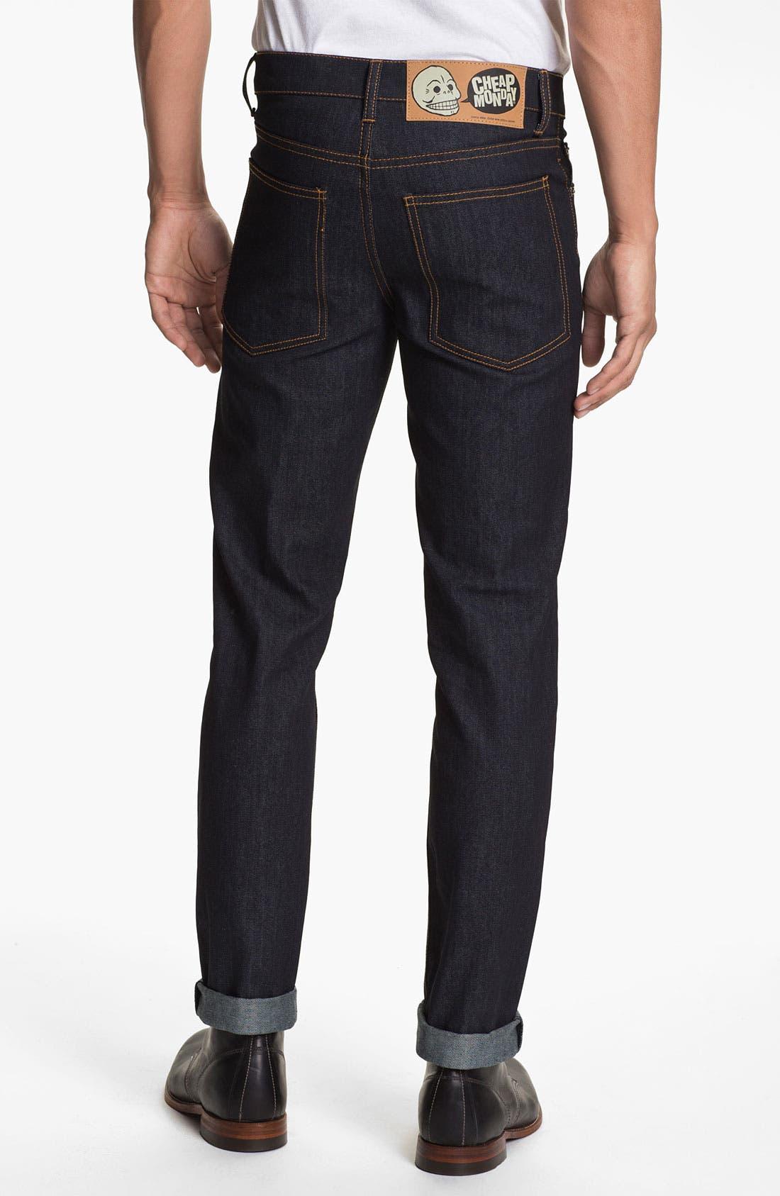 Alternate Image 1 Selected - Cheap Monday Slim Straight Leg Jeans (Original Unwashed)