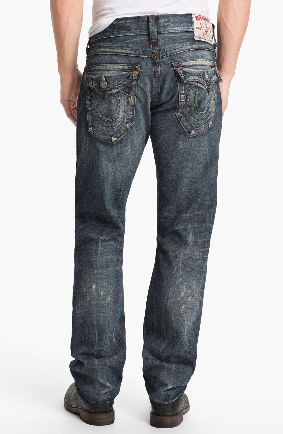 Alternate Image 1 Selected - True Religion Brand Jeans 'Ricky' Straight Leg Jeans (Granite)
