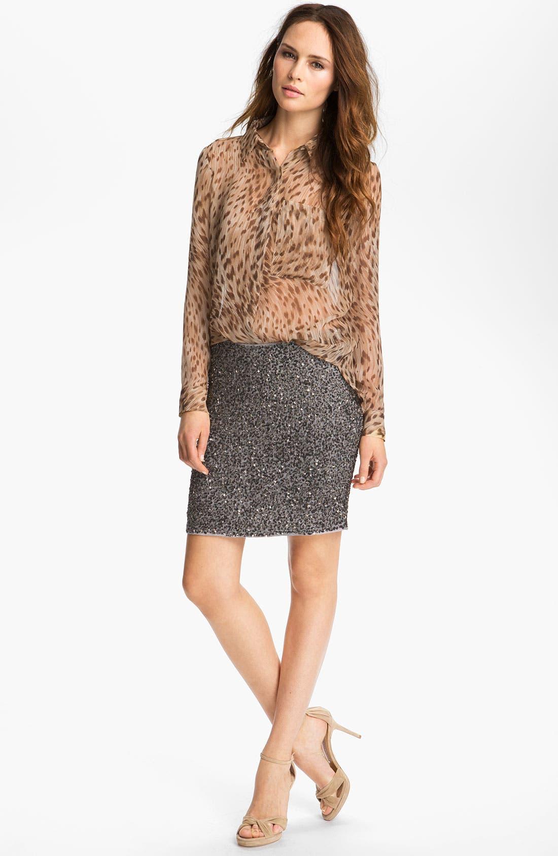 Alternate Image 2  - Haute Hippie Leopard Print Silk Shirt