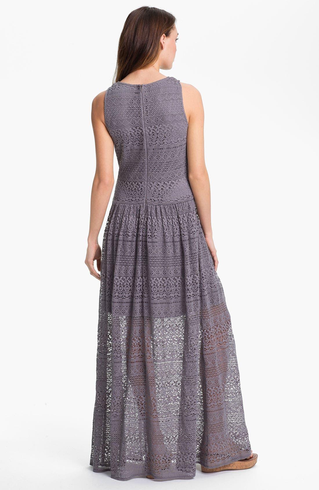 Alternate Image 2  - Suzi Chin for Maggy Boutique Crochet Maxi Dress