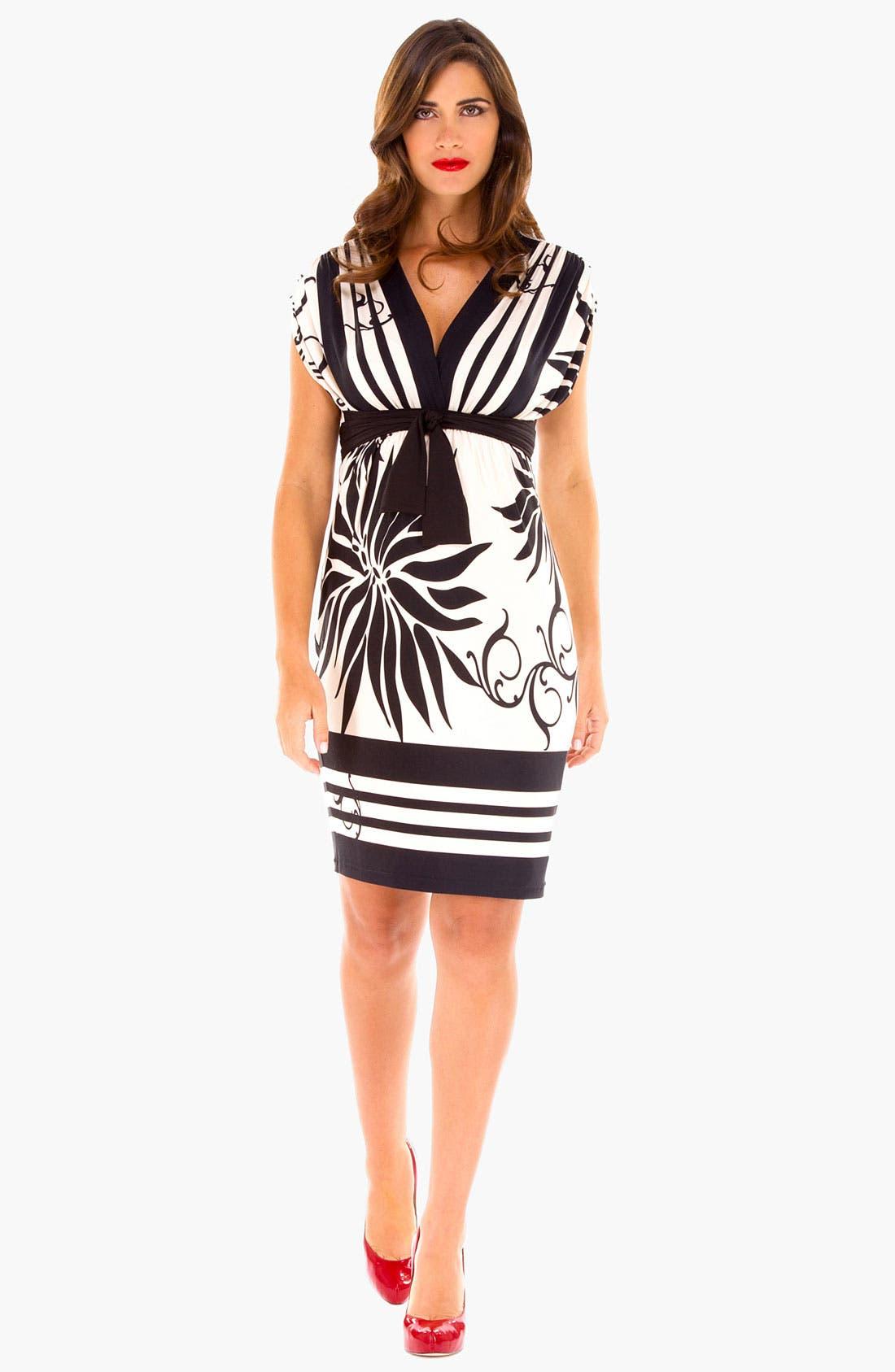 Alternate Image 2  - Olian Print Maternity Dress