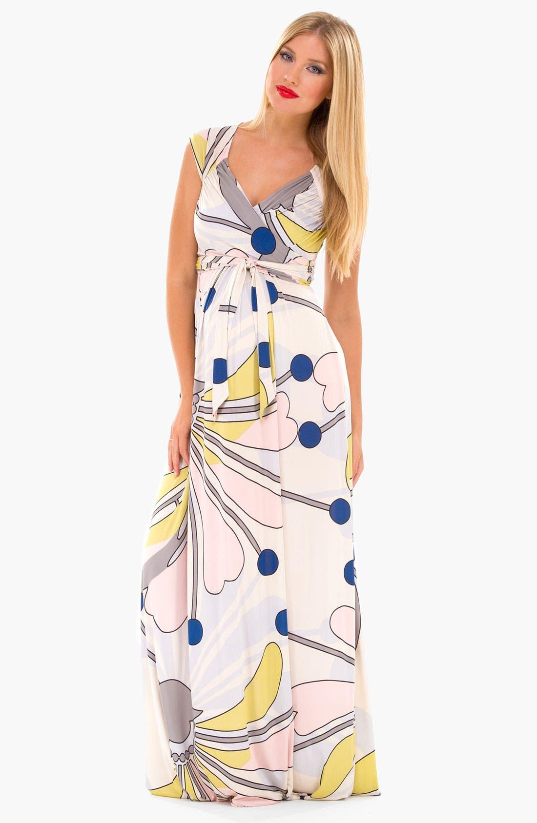 Alternate Image 2  - Olian 'Lucy' Maternity Draped Stretch Knit Dress