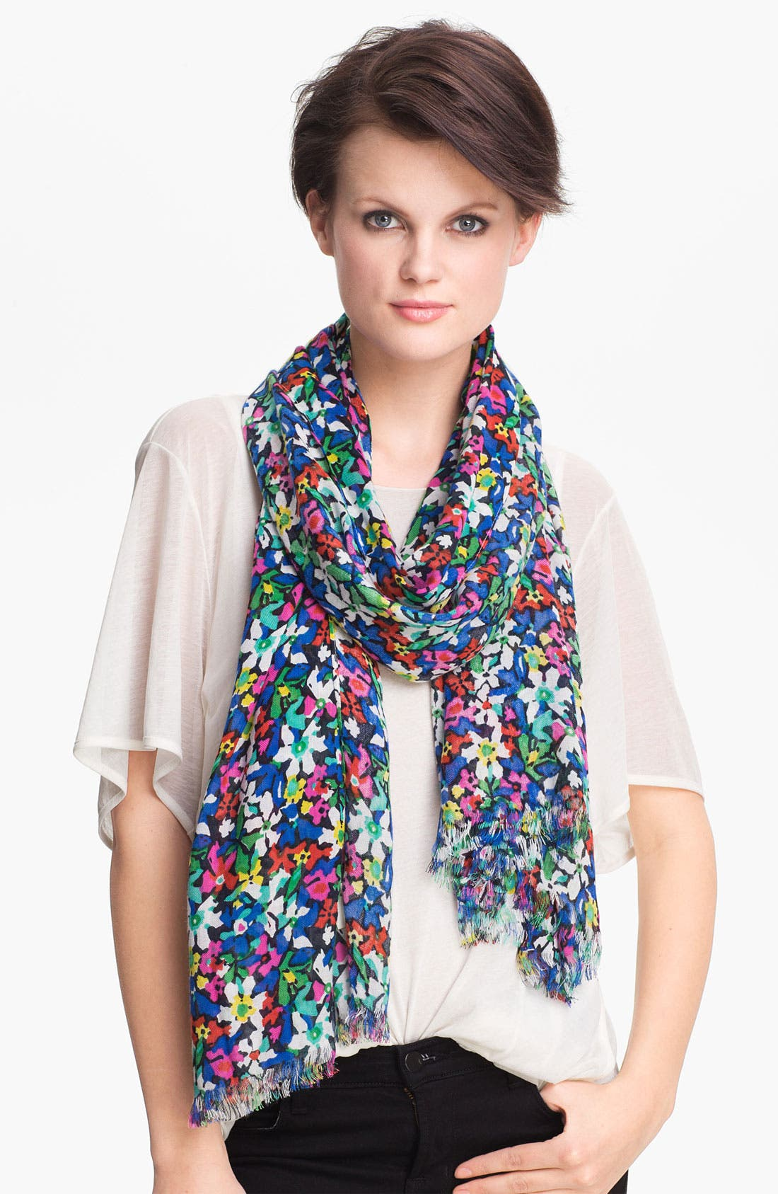 Main Image - kate spade new york 'margerita floral' scarf