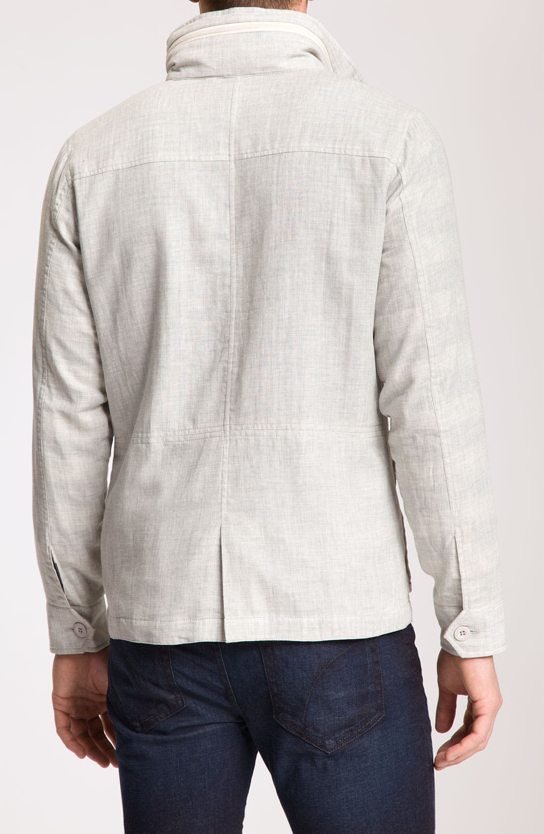 Alternate Image 2  - Kane & Unke Trim Fit Cotton Jacket