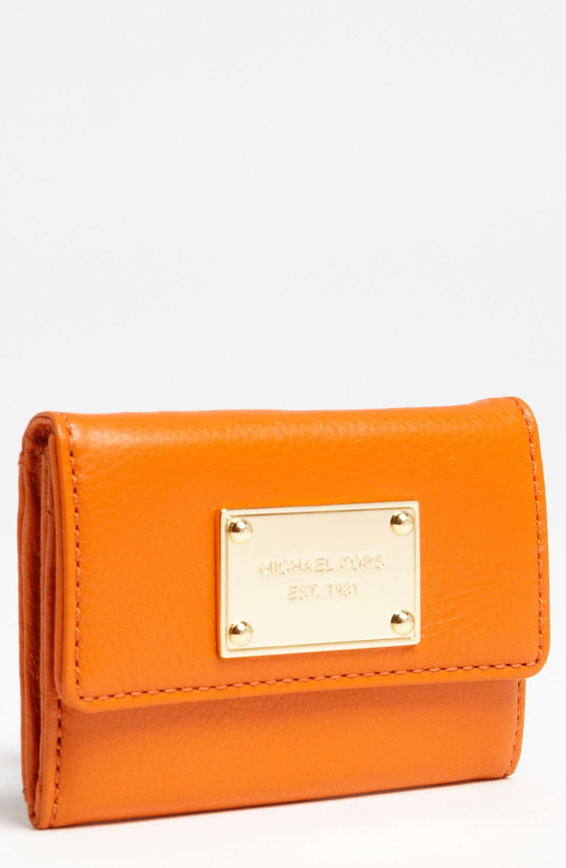 Alternate Image 1 Selected - MICHAEL Michael Kors 'Jet Set' Leather Wallet