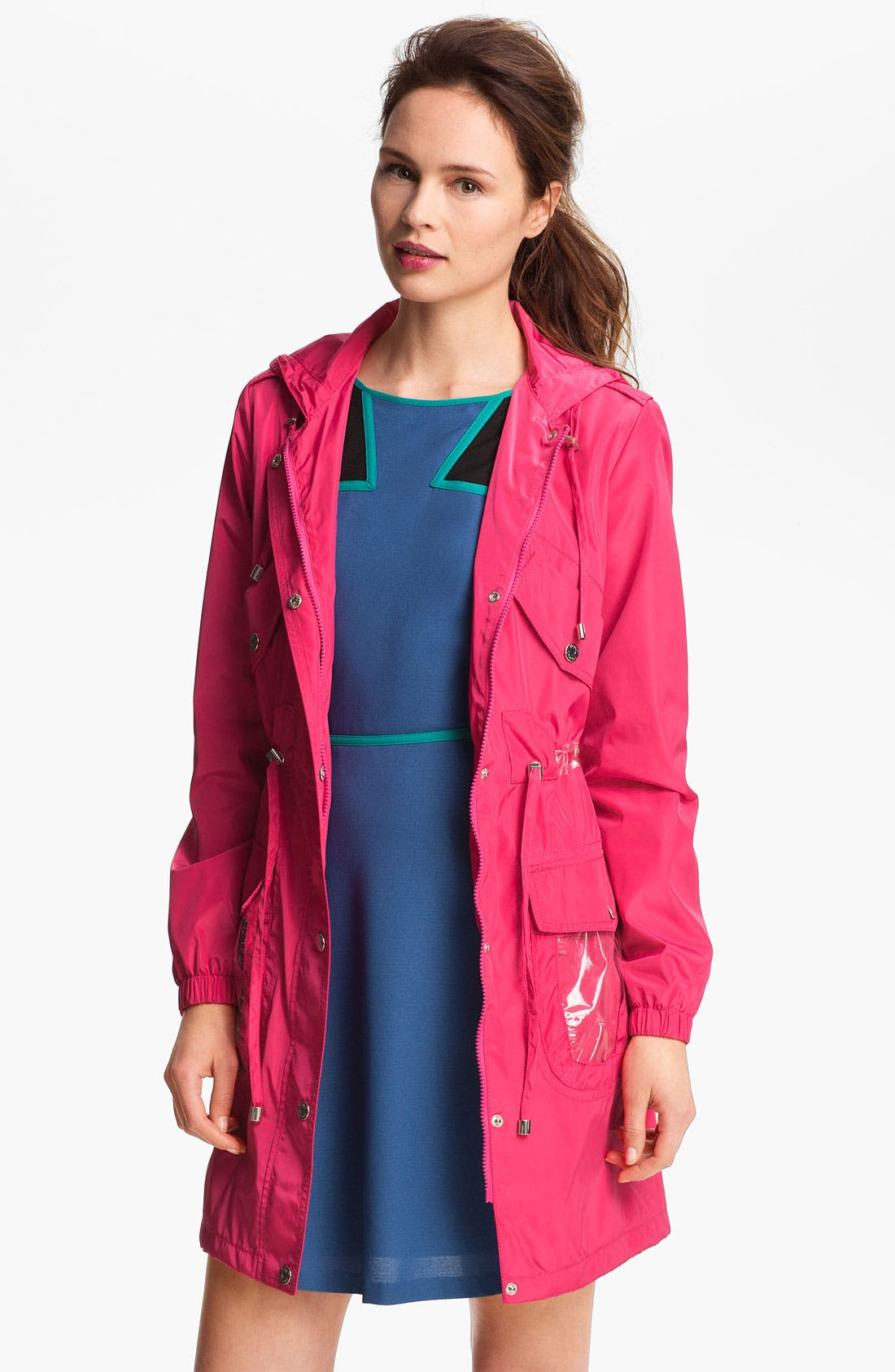Main Image - Betsey Johnson Long Hooded Anorak (Online Only)