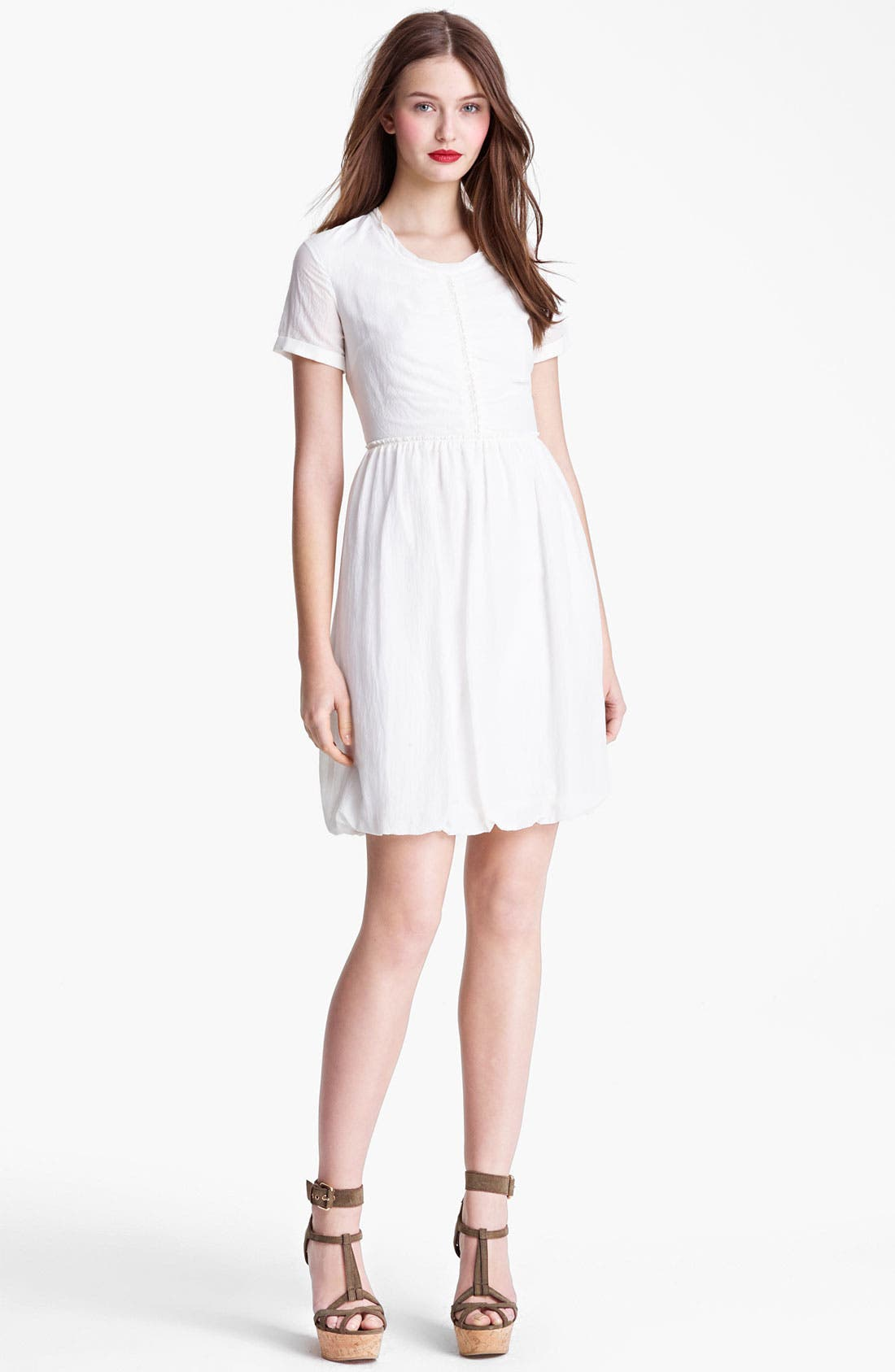 Main Image - Burberry Brit Mulberry Silk Dress (Online Only)