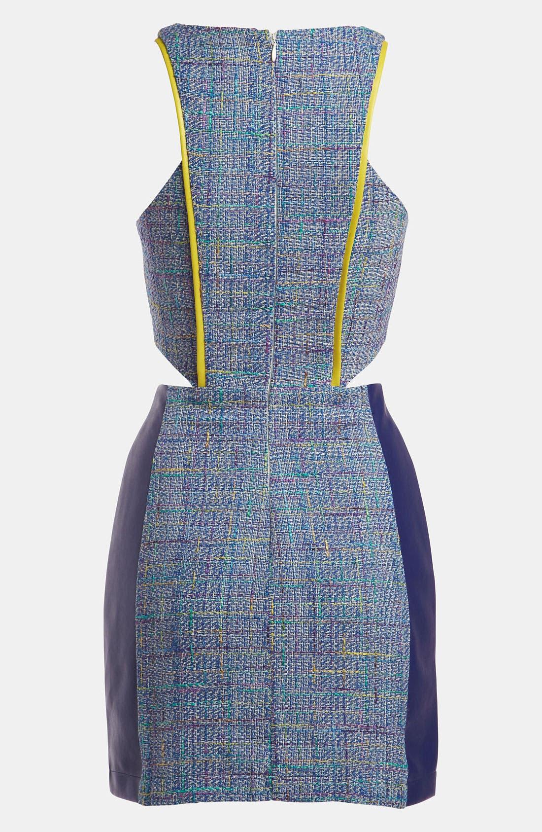 Alternate Image 2  - ASTR Mixed Media Tweed Dress