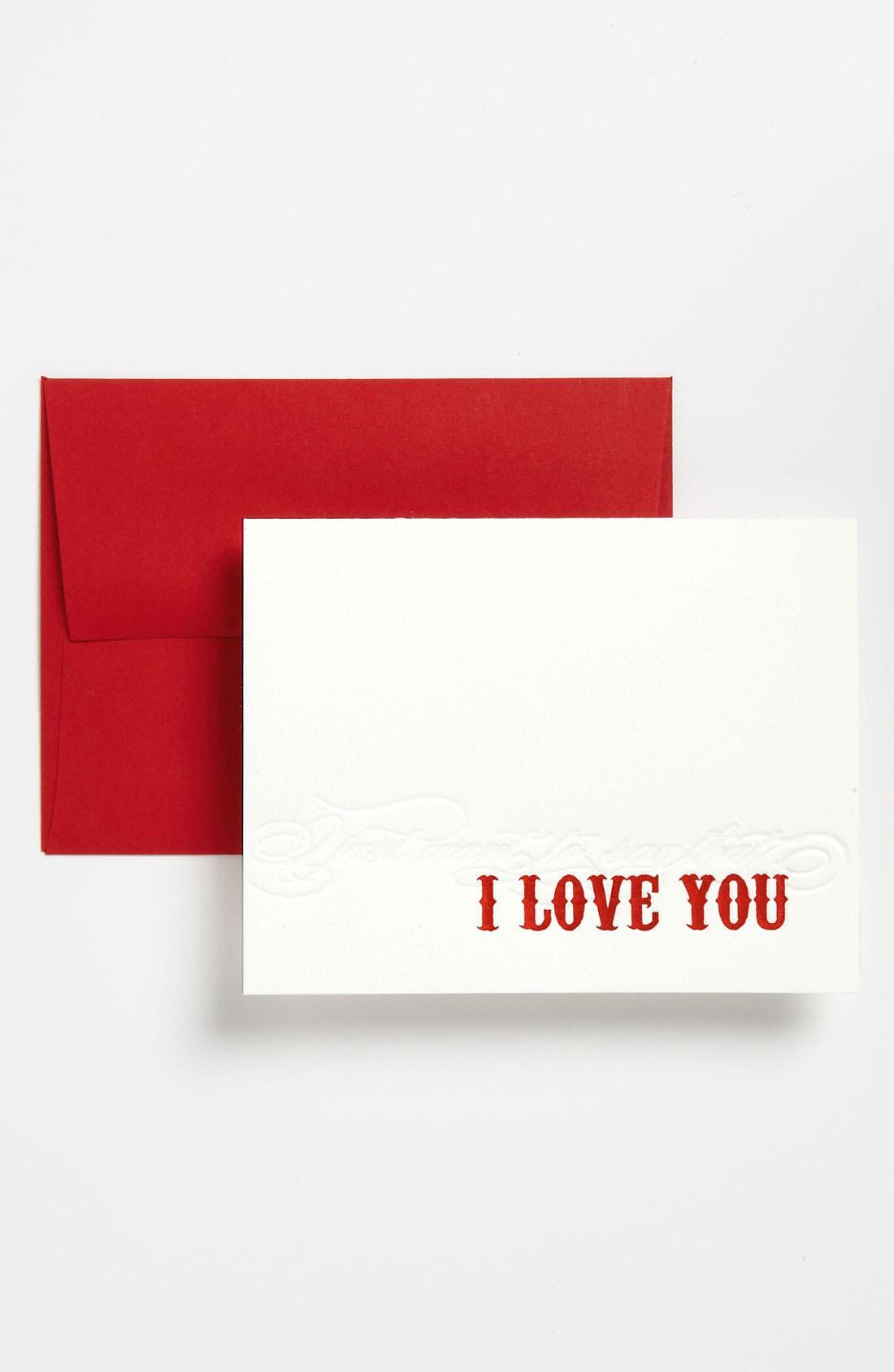 Alternate Image 1 Selected - Letterpress Greeting Cards (Set of 6)