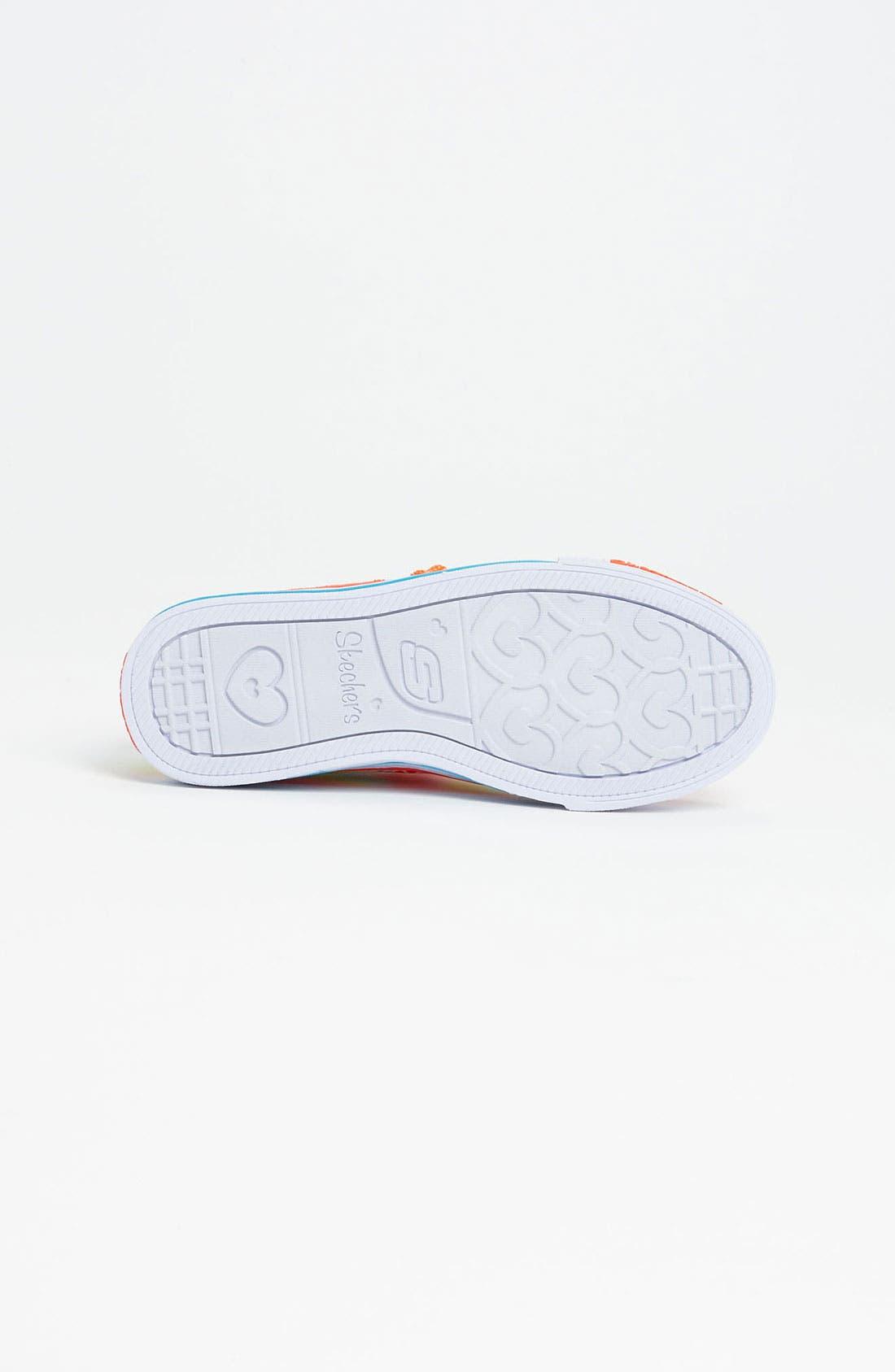 Alternate Image 4  - SKECHERS 'Shuffles - Lights Heart Sparks' Sneaker (Walker, Toddler & Little Kid)