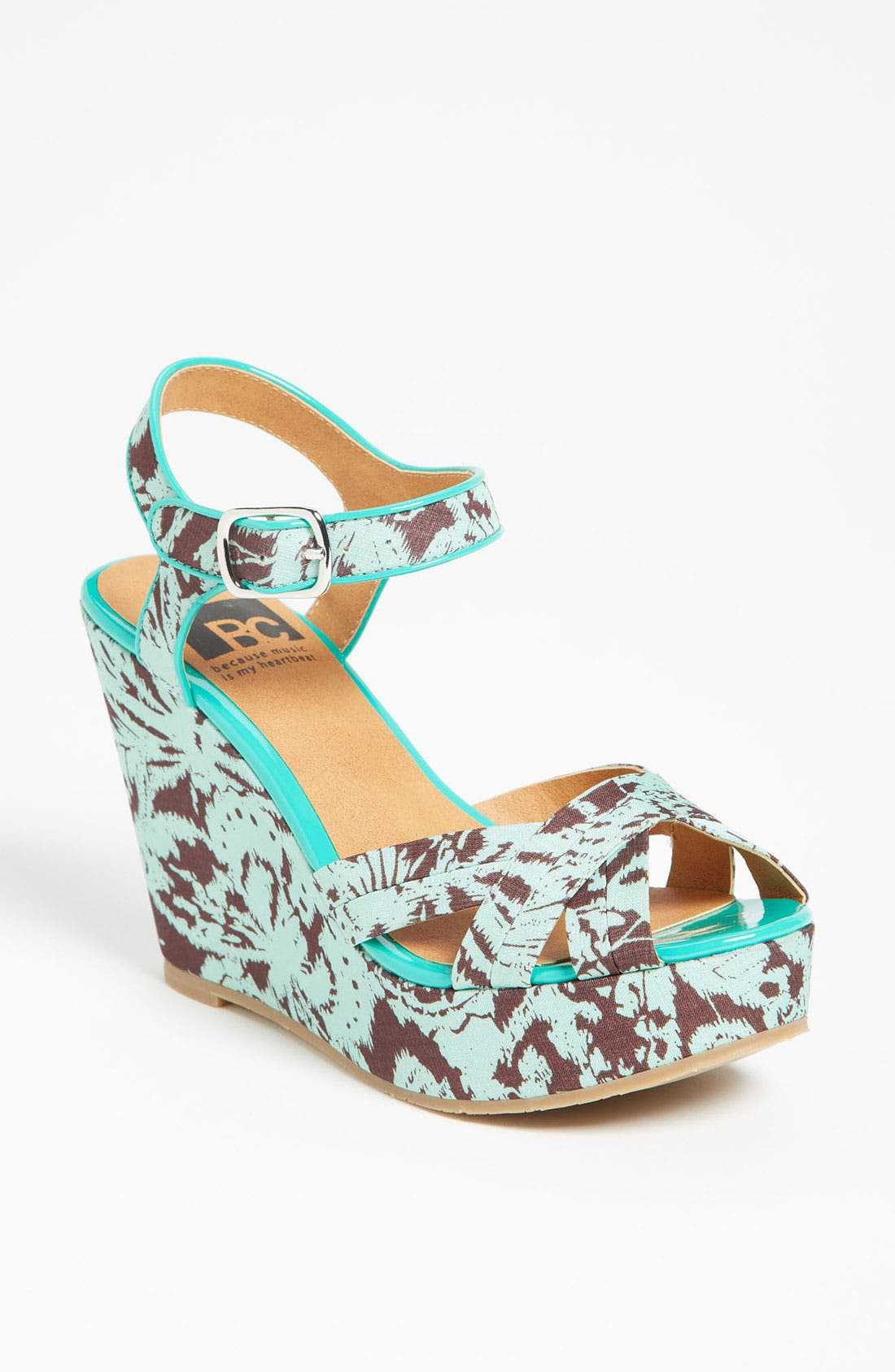 Main Image - BC Footwear 'Kissable' Ankle Strap Wedge
