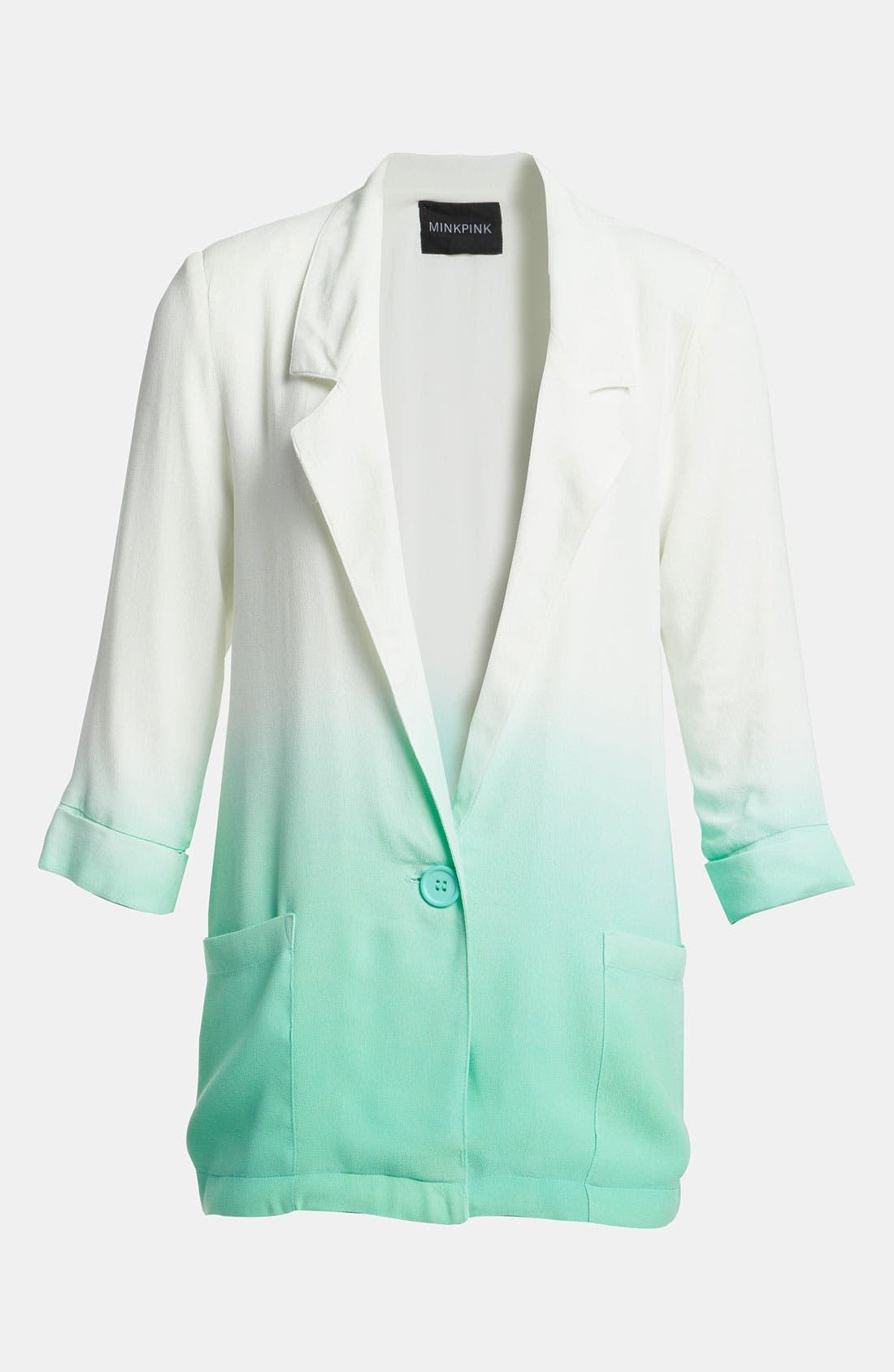 Main Image - MINKPINK 'Great White' Dip Dye Blazer