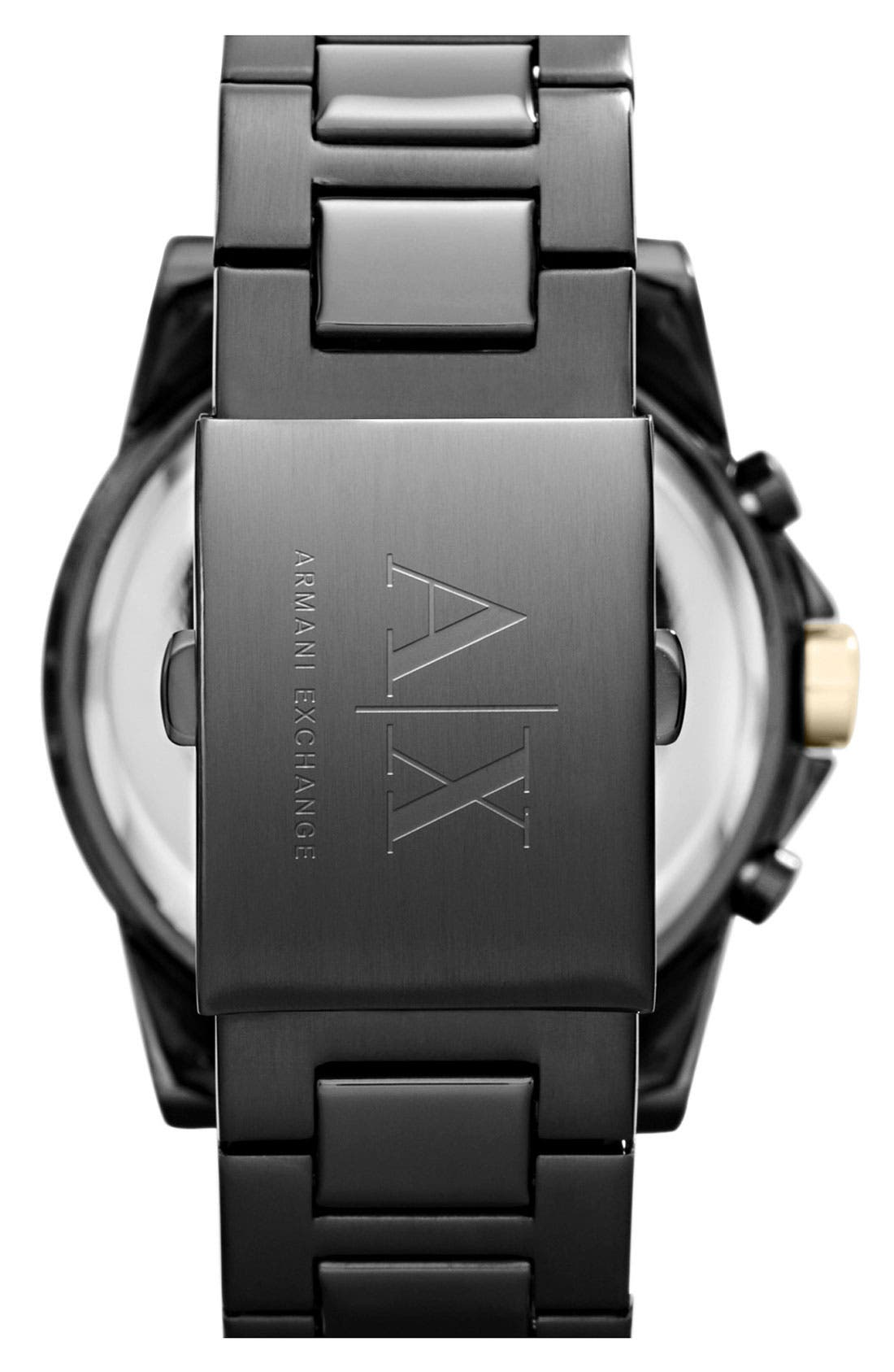 Alternate Image 2  - AX Armani Exchange Chronograph Bracelet Watch, 45mm
