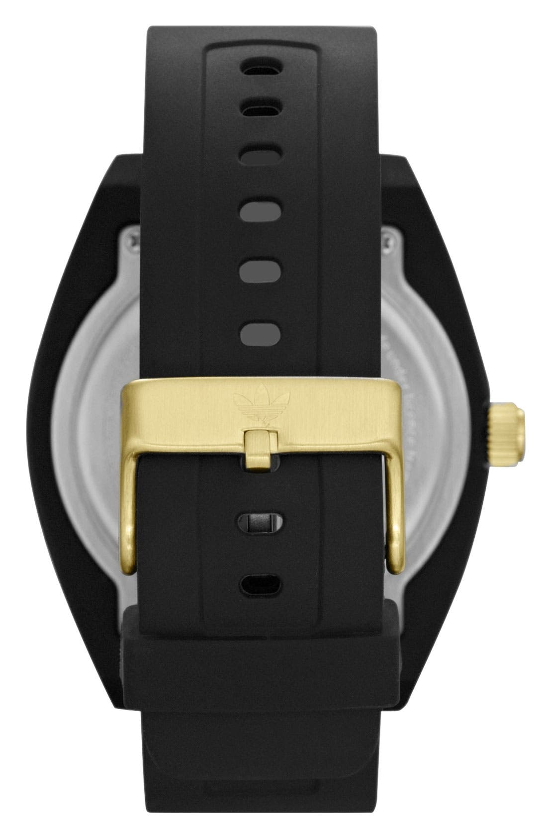 Alternate Image 2  - adidas Originals 'Santiago XL' Silicone Strap Watch, 50mm