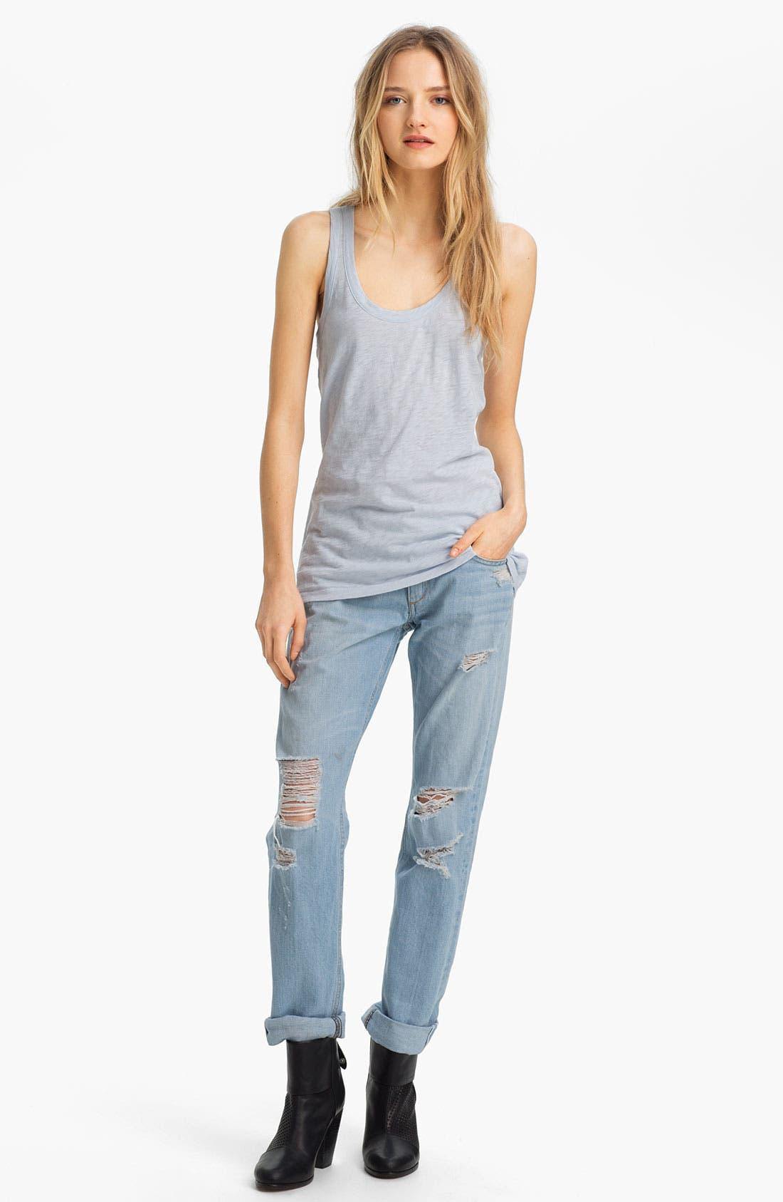 Alternate Image 2  - rag & bone/JEAN 'The Boyfriend' Selvedge Denim Jeans