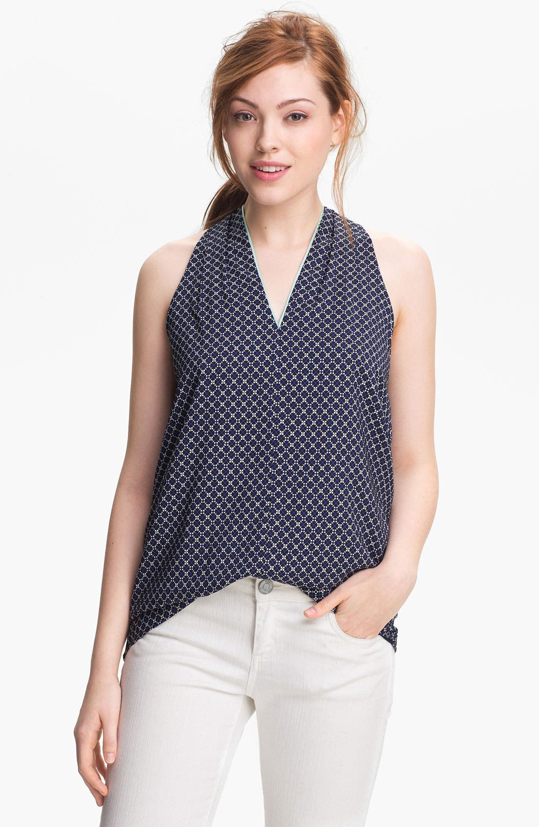 Main Image - Vince Camuto 'Geo Floral' Sleeveless Blouse