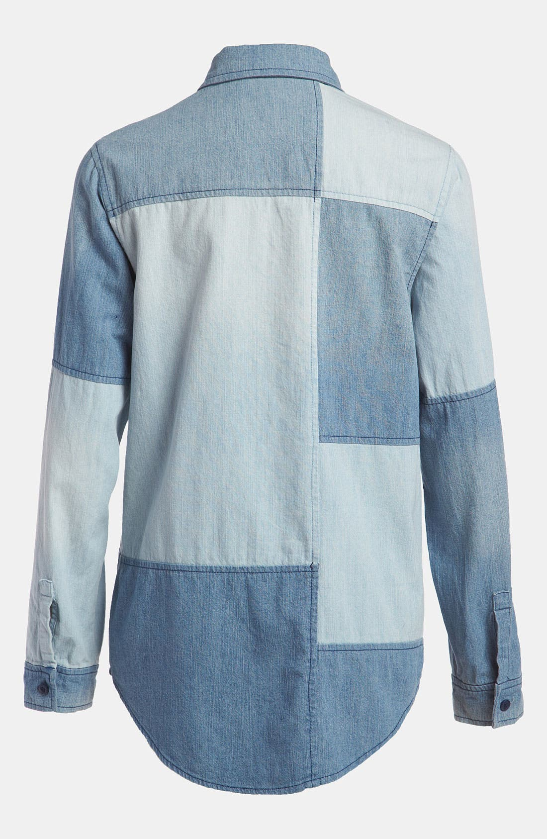 Alternate Image 2  - Leith Colorblock Chambray Shirt