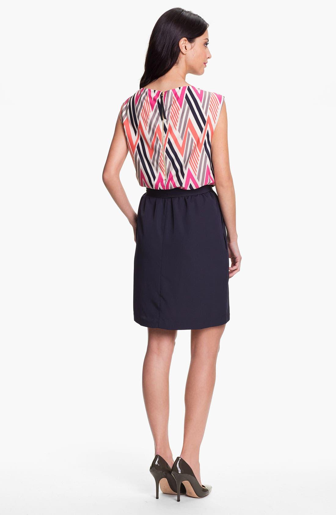 Alternate Image 2  - Eliza J Geo Print Blouson Dress