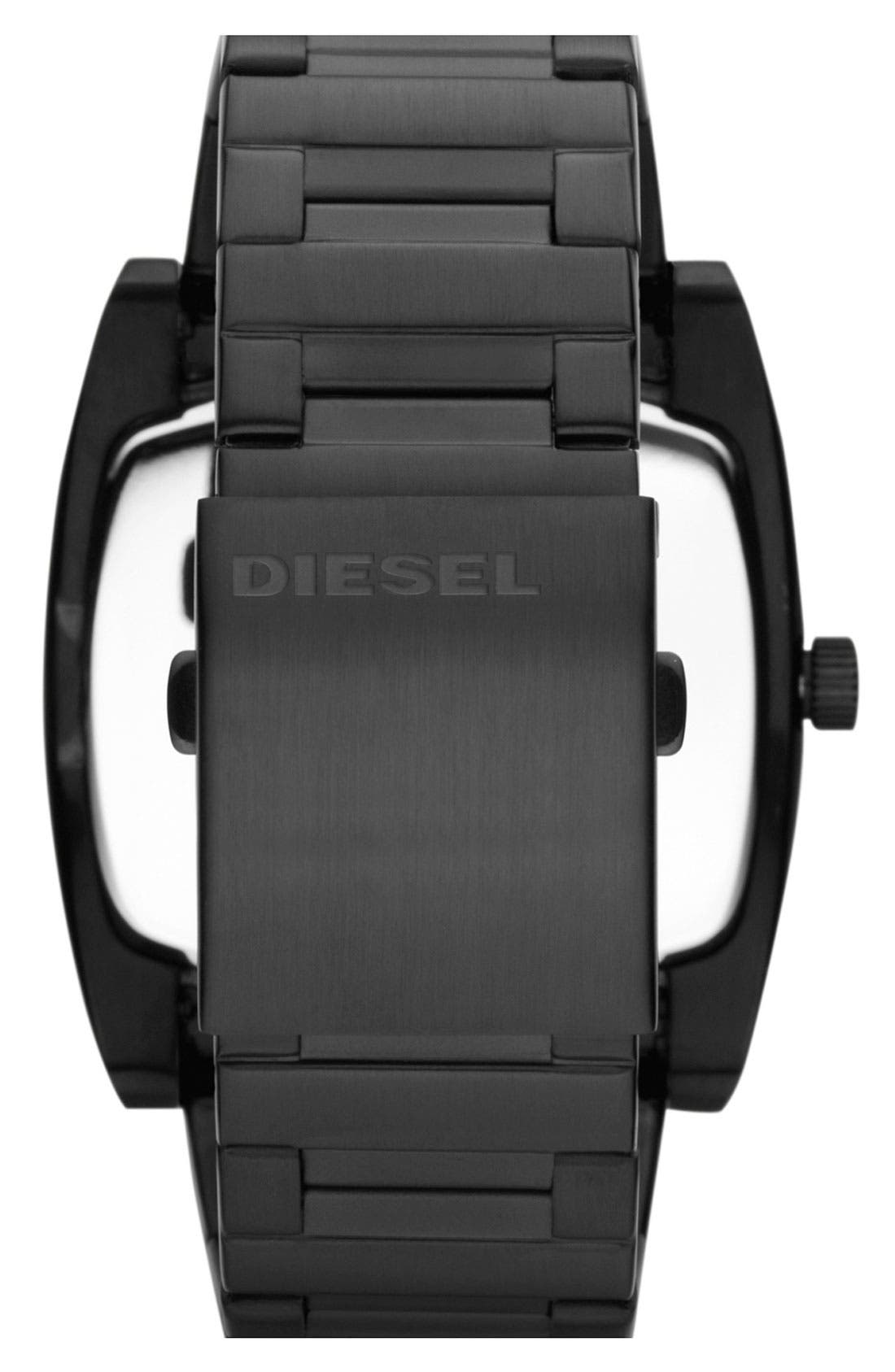Alternate Image 3  - DIESEL® 'Mr. Red' Bracelet Watch, 53mm x 47mm