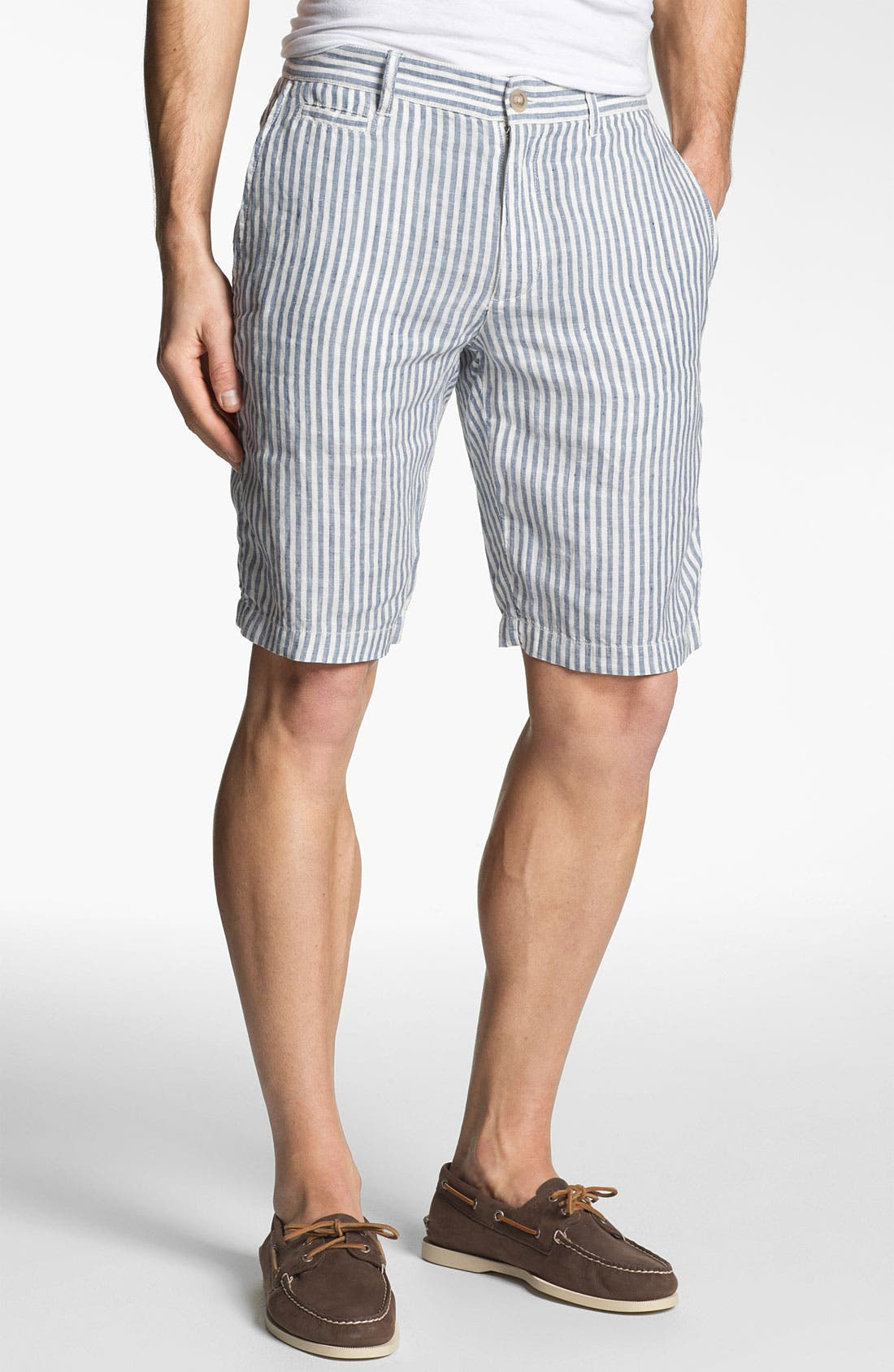 Alternate Image 1 Selected - 1901 'Eastport' Linen Shorts