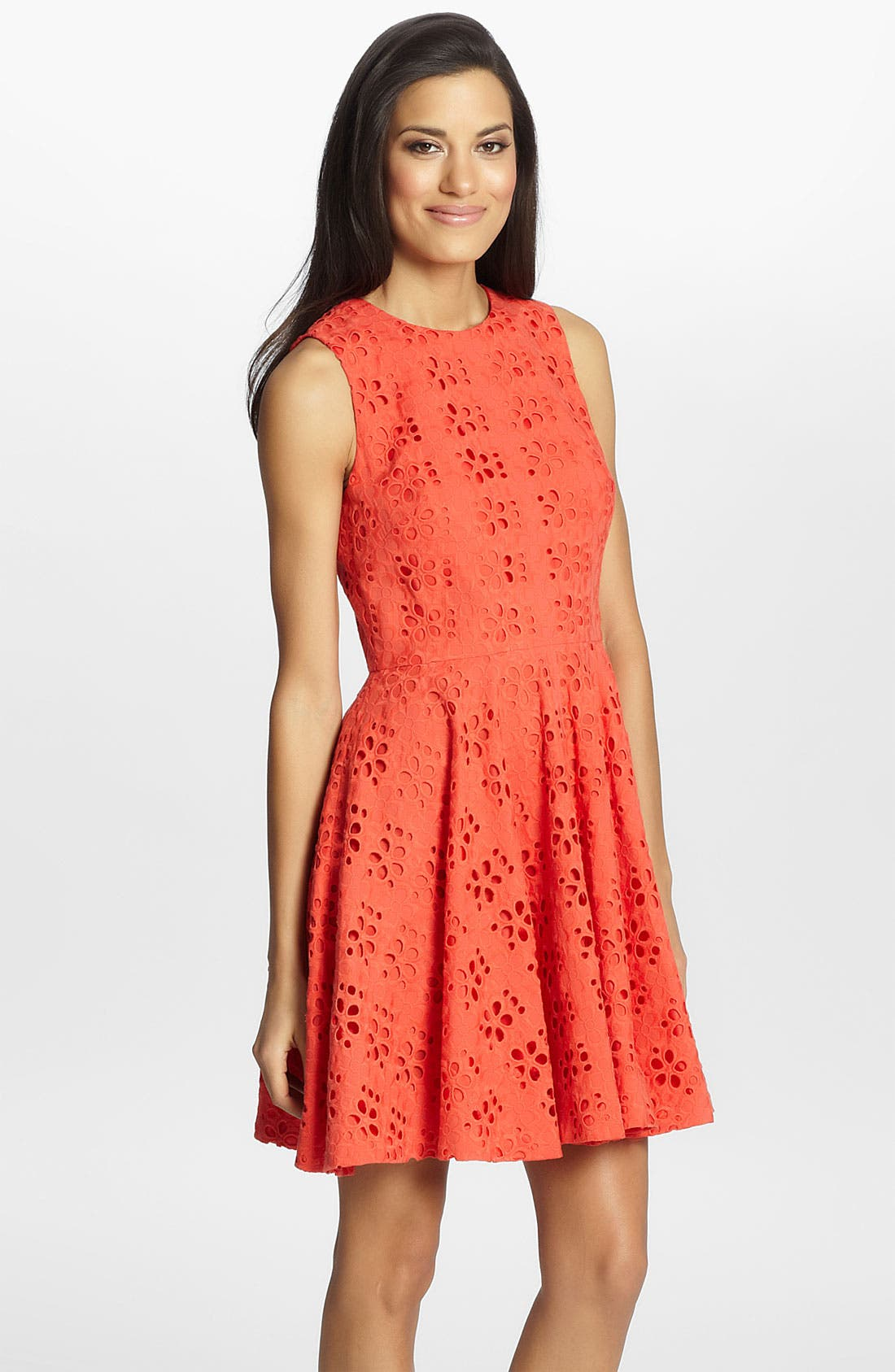 Alternate Image 1 Selected - Cynthia Steffe 'Hailey' Eyelet Fit & Flare Dress