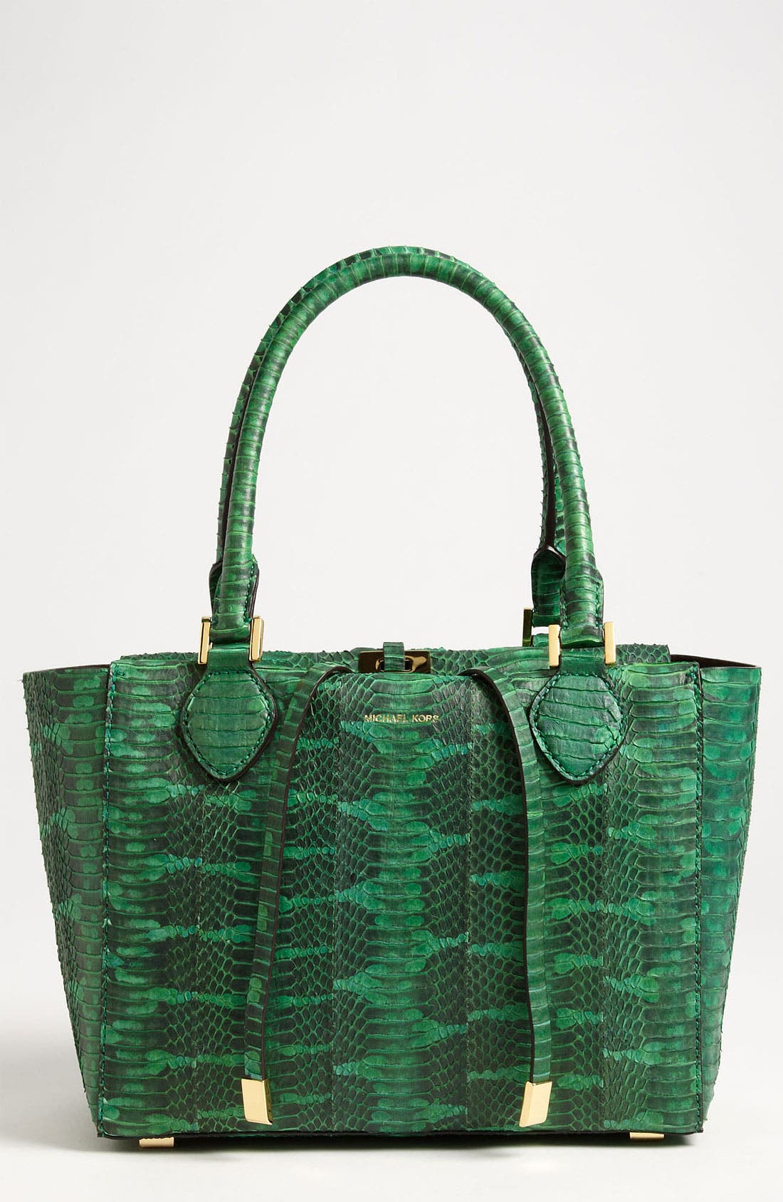 Alternate Image 1 Selected - Michael Kors 'Miranda' Genuine Snakeskin Tote