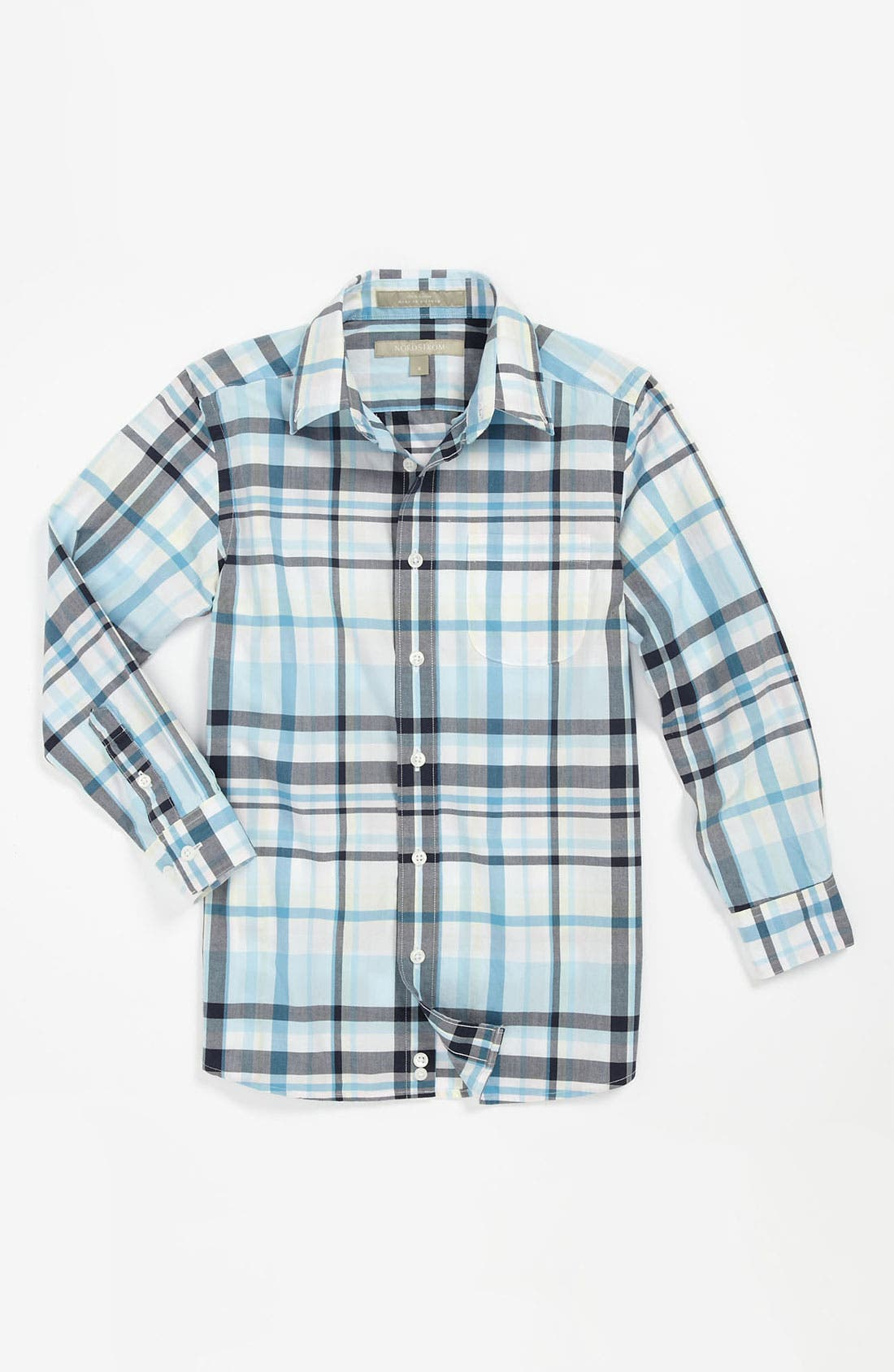 Main Image - Nordstrom Gingham Dress Shirt (Big Boys)