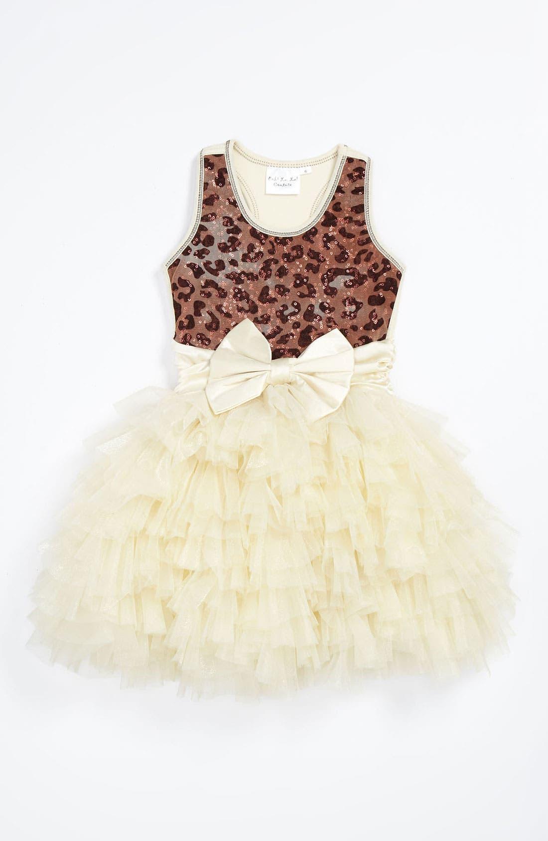Main Image - Ooh! La, La! Couture 'Dream' Leopard Bodice Dress (Little Girls)