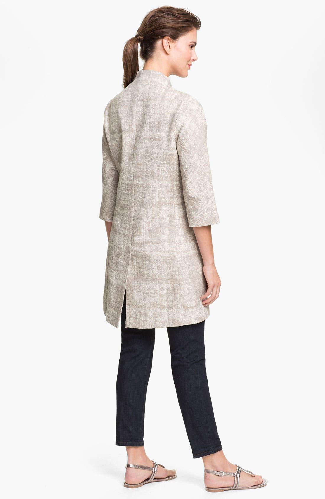 Alternate Image 5  - Eileen Fisher Illusion Jacquard Coat