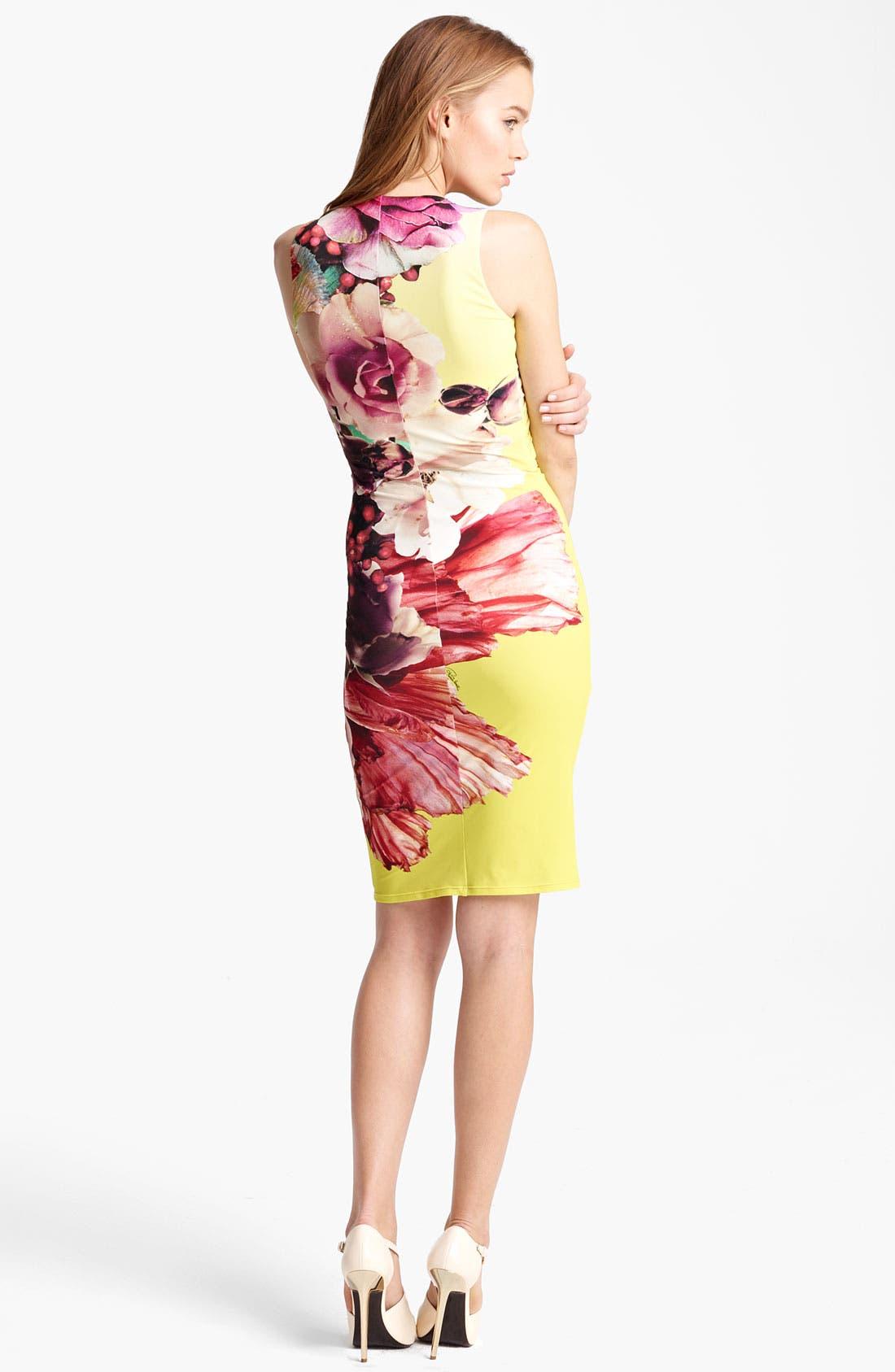 Alternate Image 2  - Roberto Cavalli 'Vervienne Print' Sheath Dress