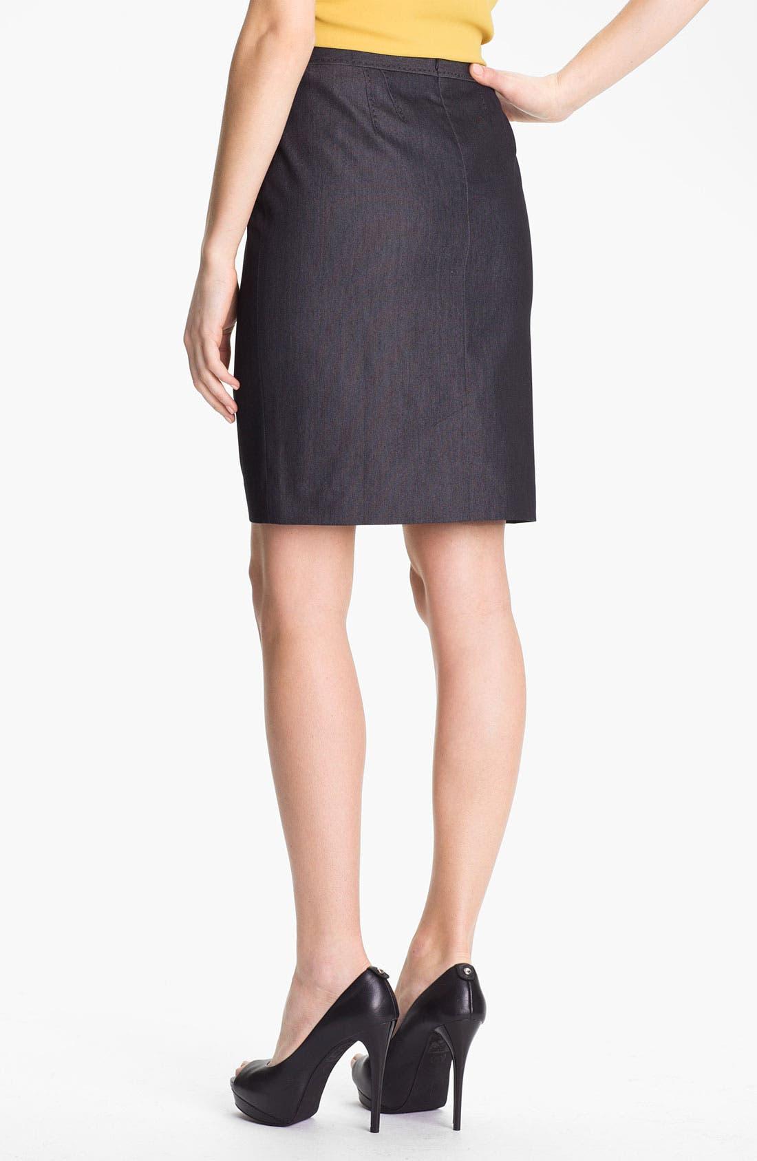 Alternate Image 3  - Halogen® Black Denim Suit Skirt