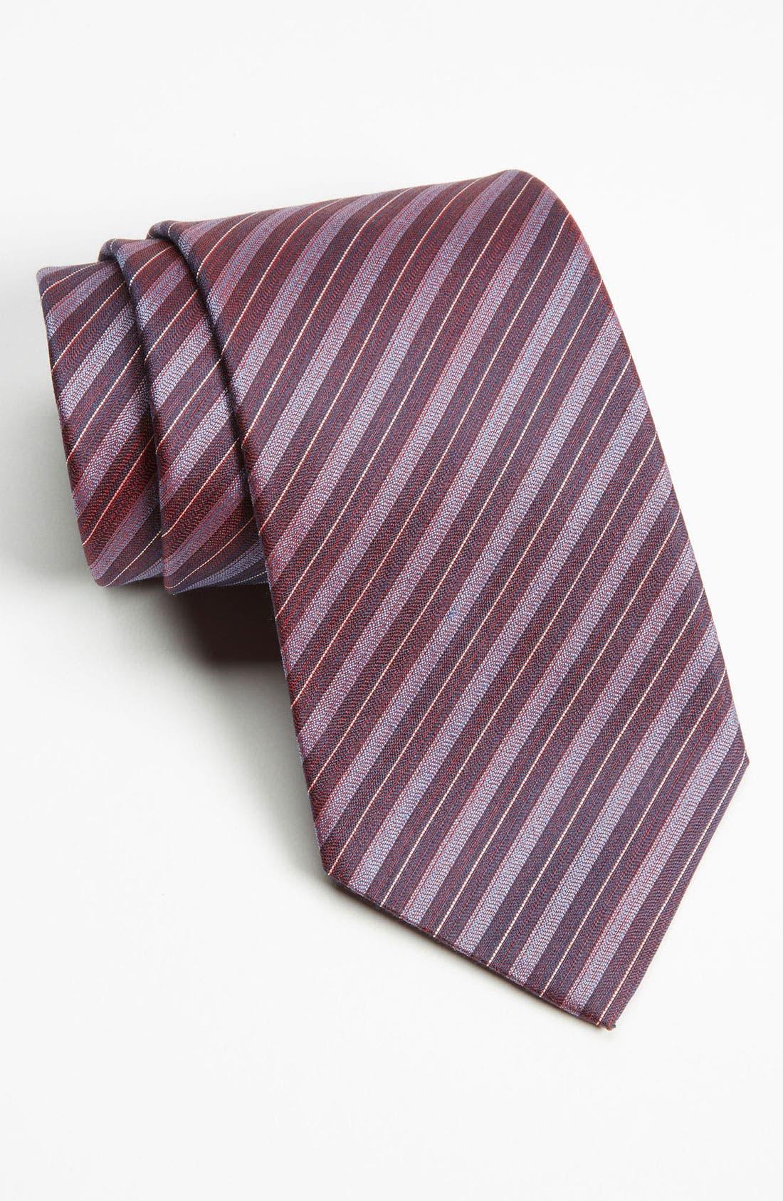 Alternate Image 1 Selected - Z Zegna Stripe Woven Silk Tie