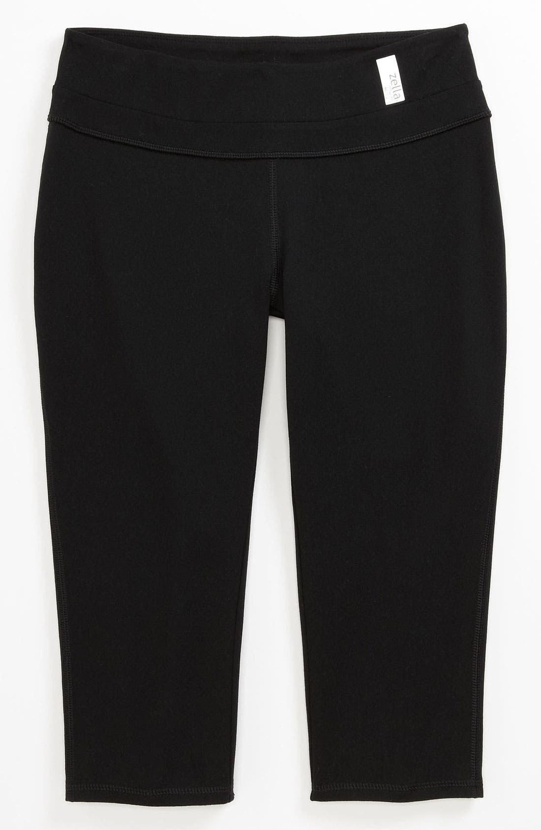 Alternate Image 1 Selected - Zella Girl 'Trainer' Capri Pants (Little Girls & Big Girls)