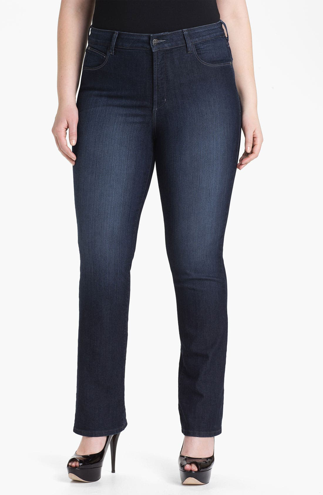 Alternate Image 1 Selected - NYDJ 'Marilyn' Straight Leg Jeans (Plus Size)