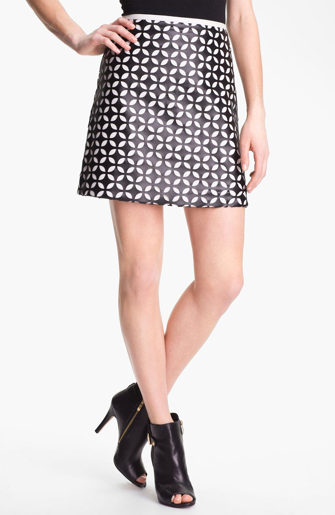 Alternate Image 1 Selected - Vince Camuto Mod Cutout Faux Leather Skirt