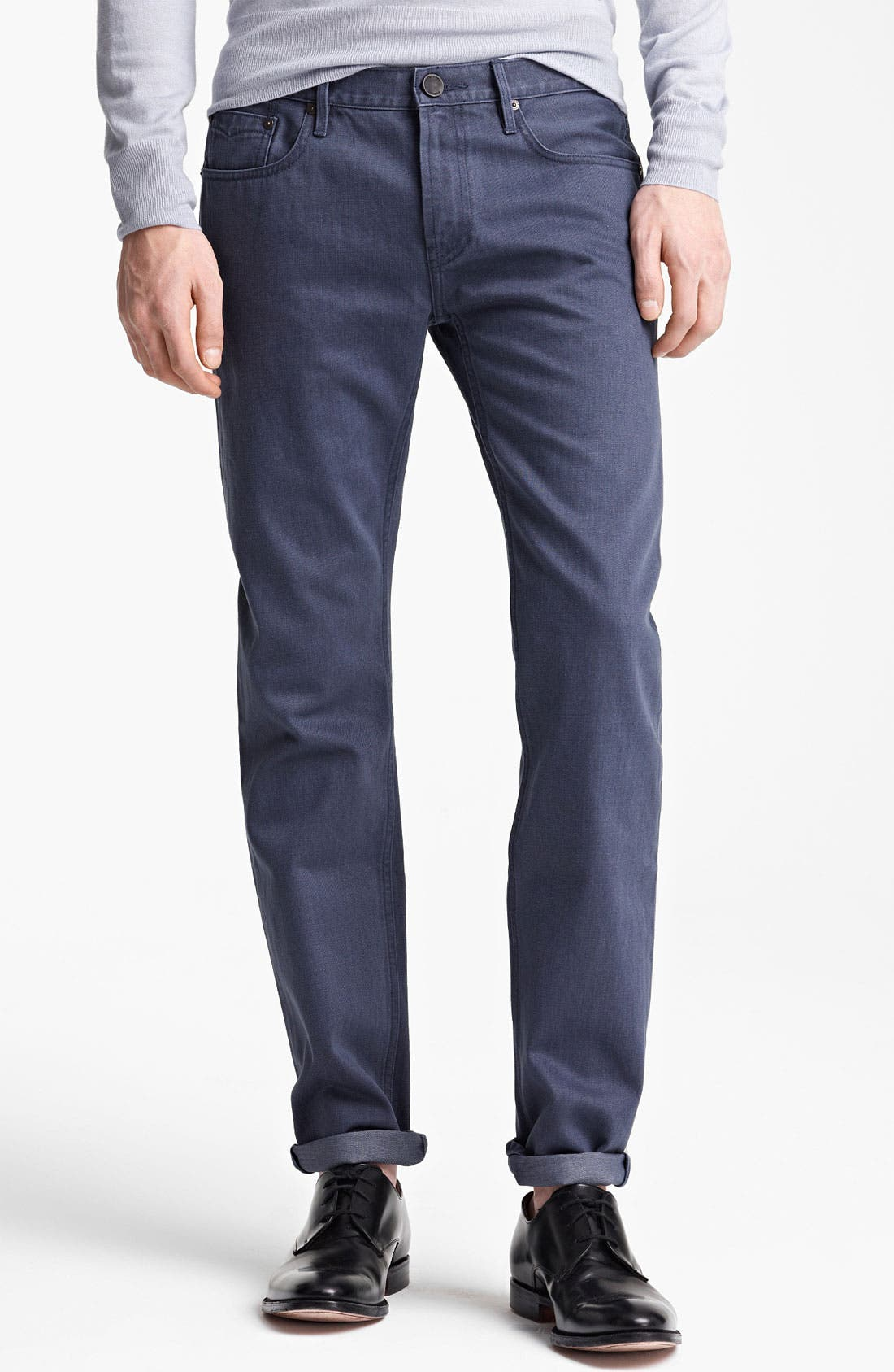 Alternate Image 1 Selected - Burberry London Straight Leg Jeans (Indigo)