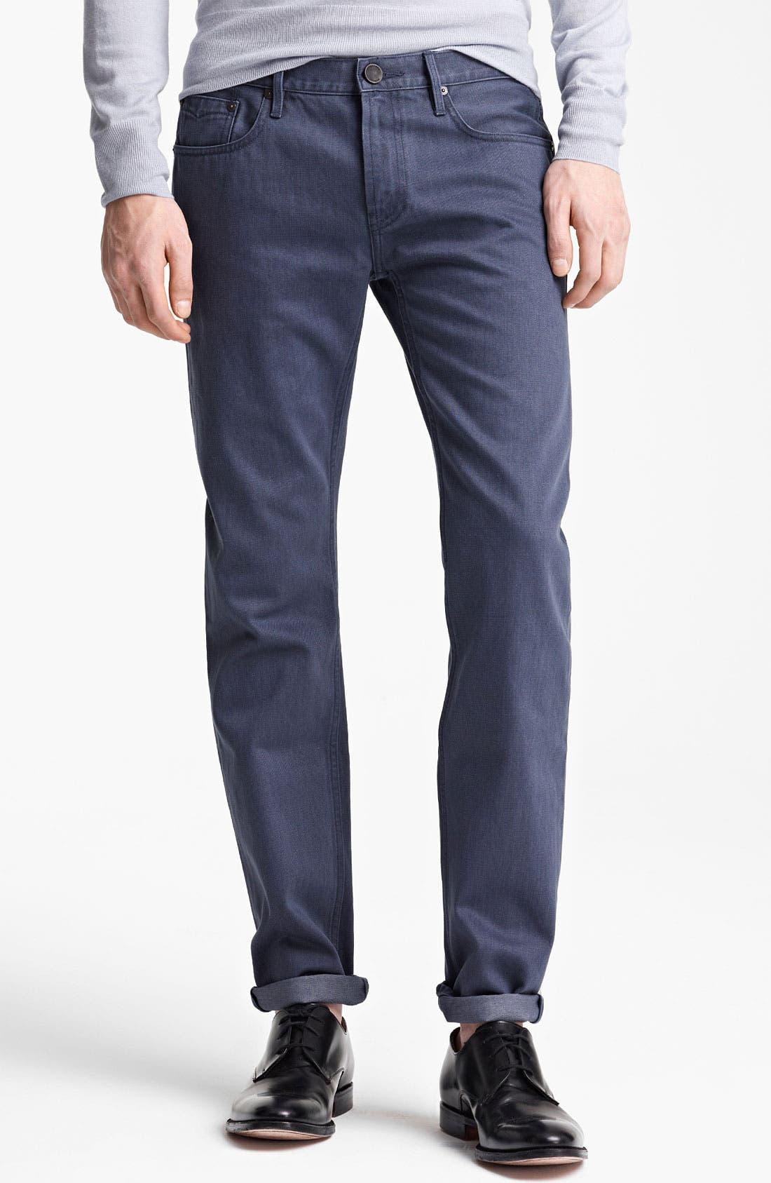 Main Image - Burberry London Straight Leg Jeans (Indigo)