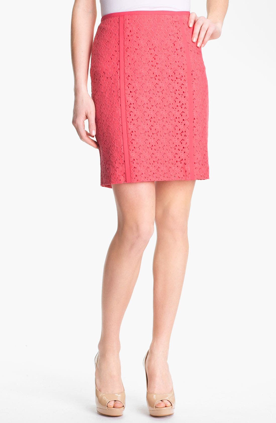 Alternate Image 1 Selected - DKNYC Lace Pencil Skirt