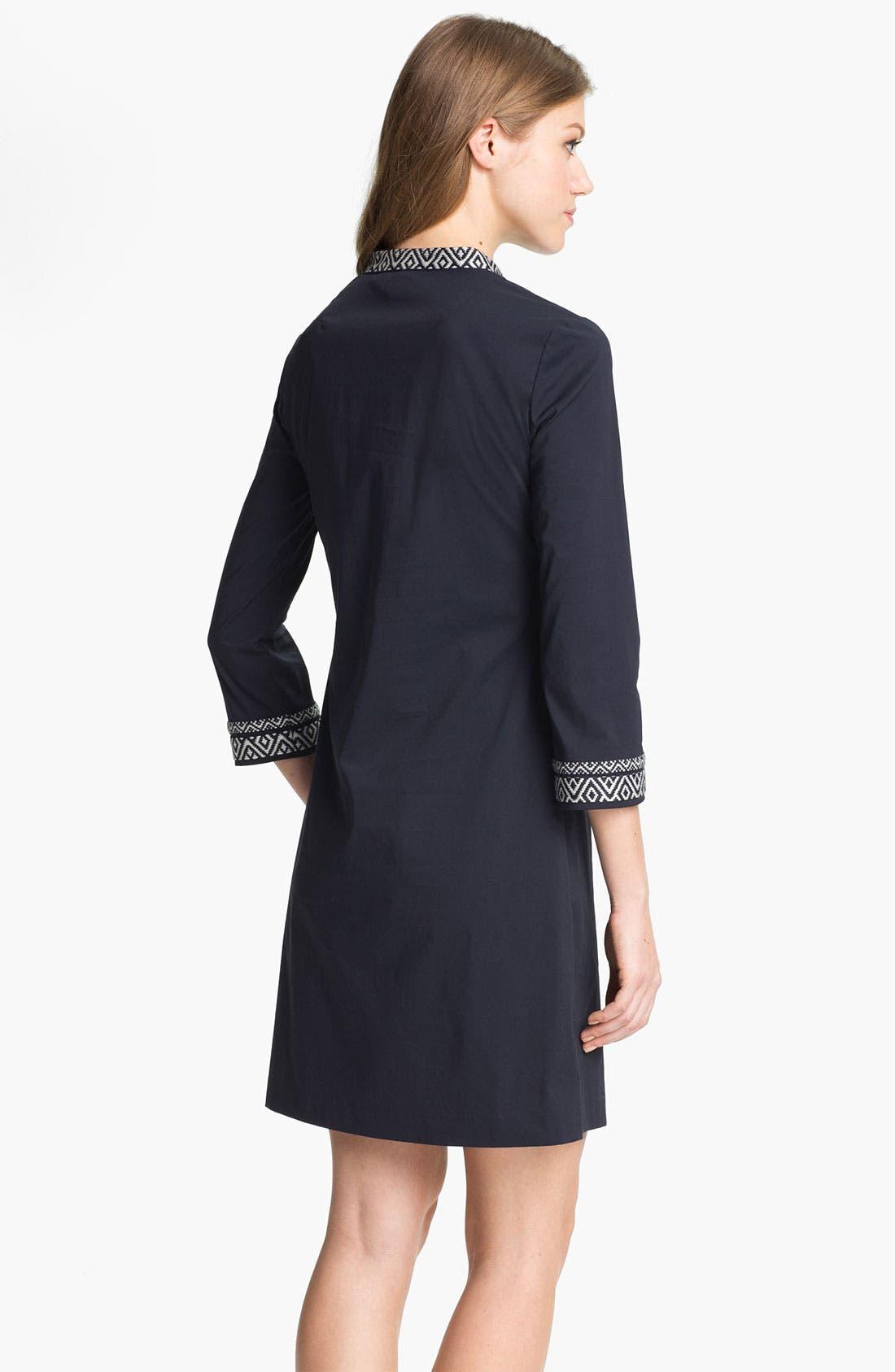 Alternate Image 2  - Tory Burch Poplin Shift Dress