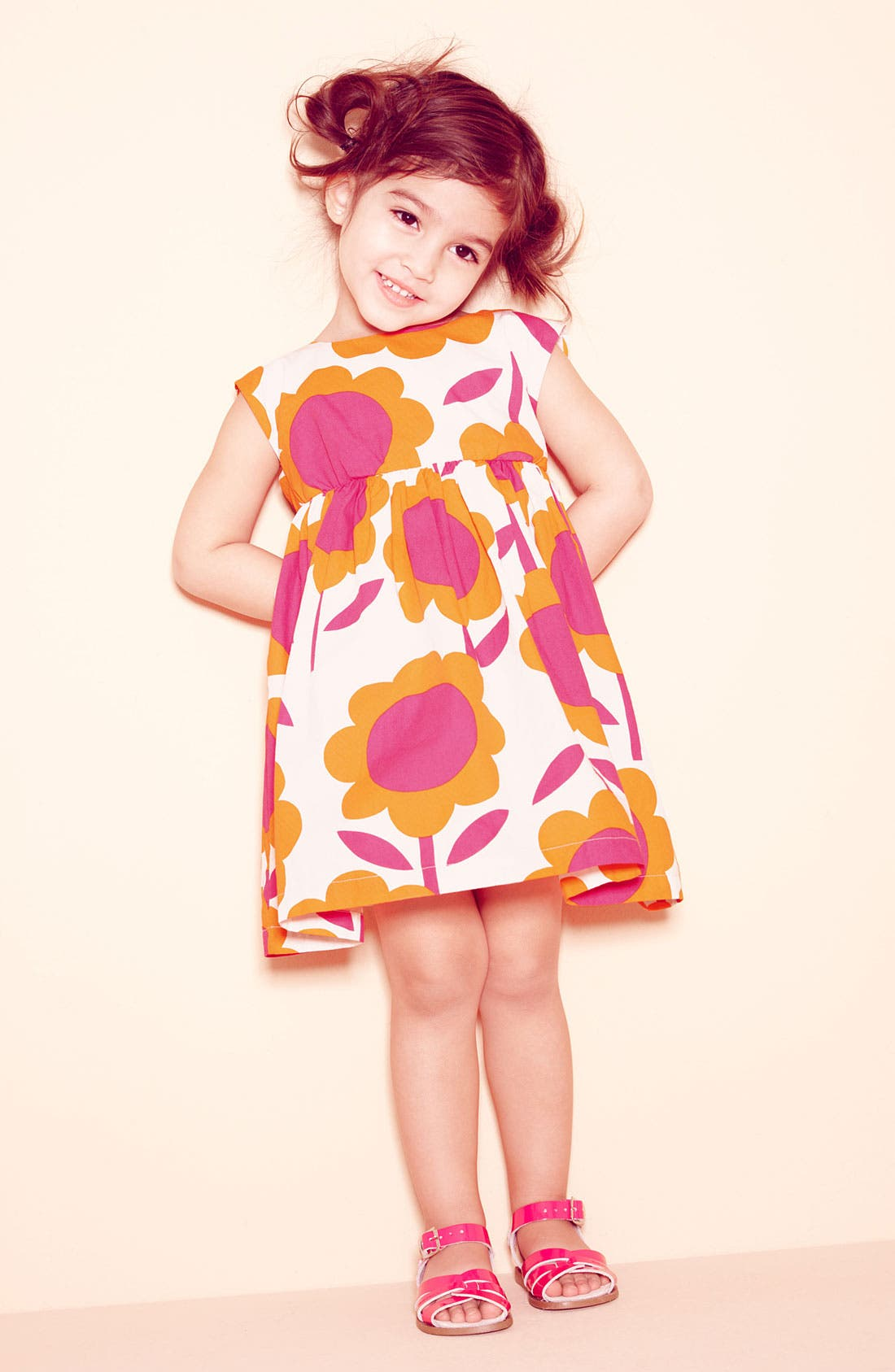 Alternate Image 1 Selected - Mignone Dress & Tucker + Tate Cardigan & Hoy Shoe Sandal (Toddler)